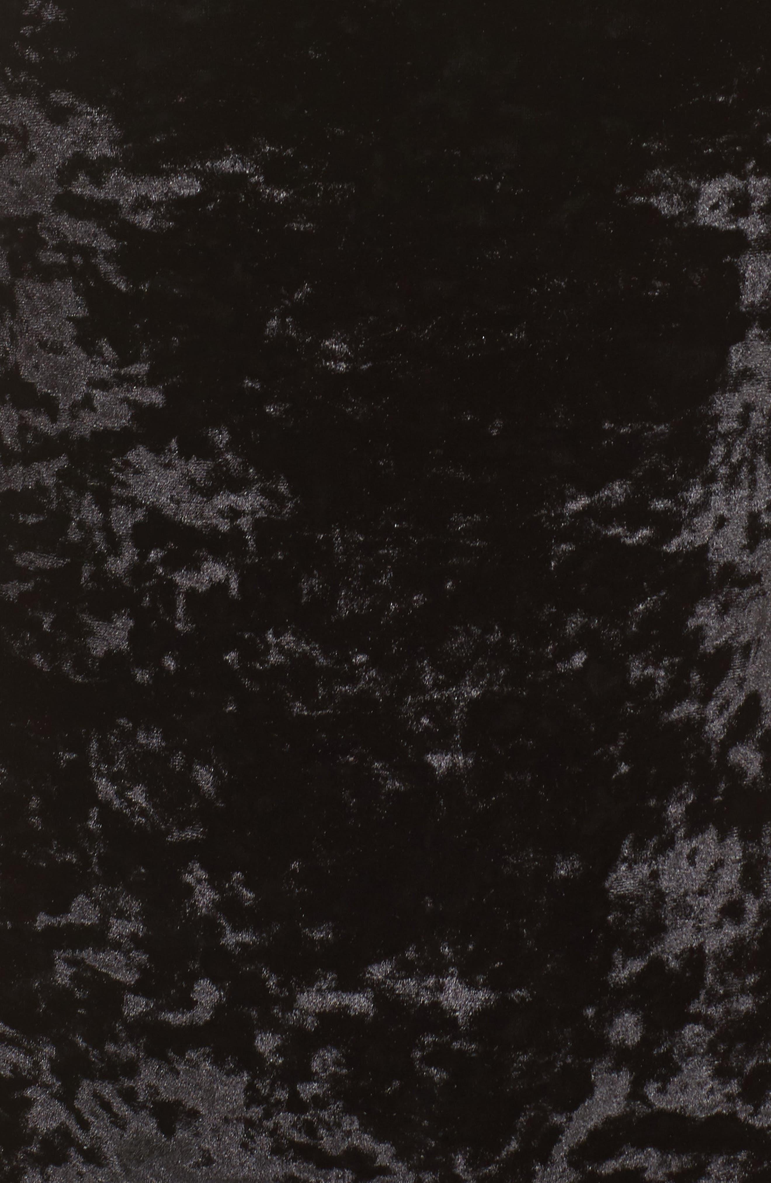 Panne Velvet Bodysuit,                             Alternate thumbnail 5, color,                             001