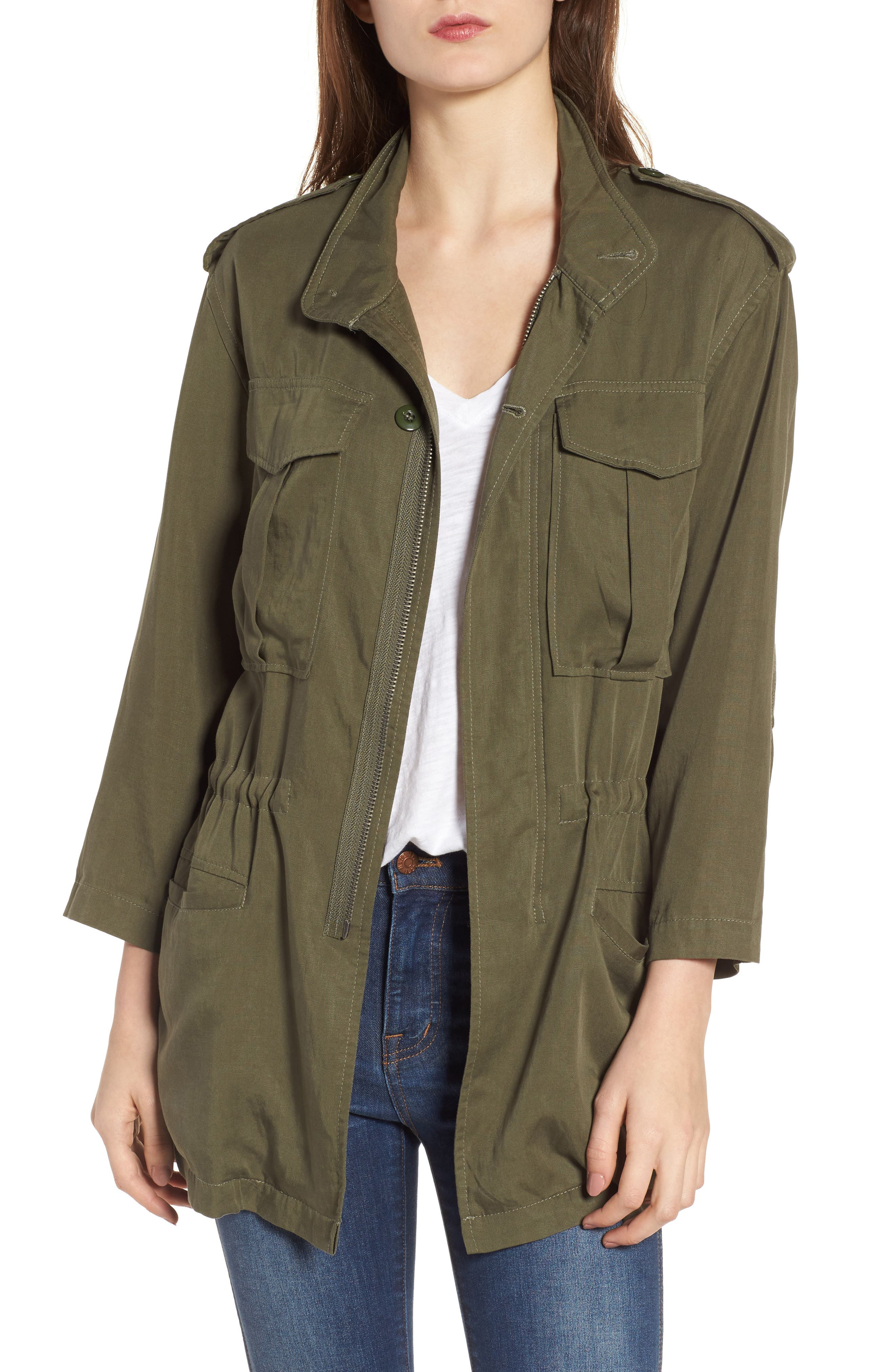 DL1961 Beekman Utility Jacket, Main, color, MILITARY GREEN