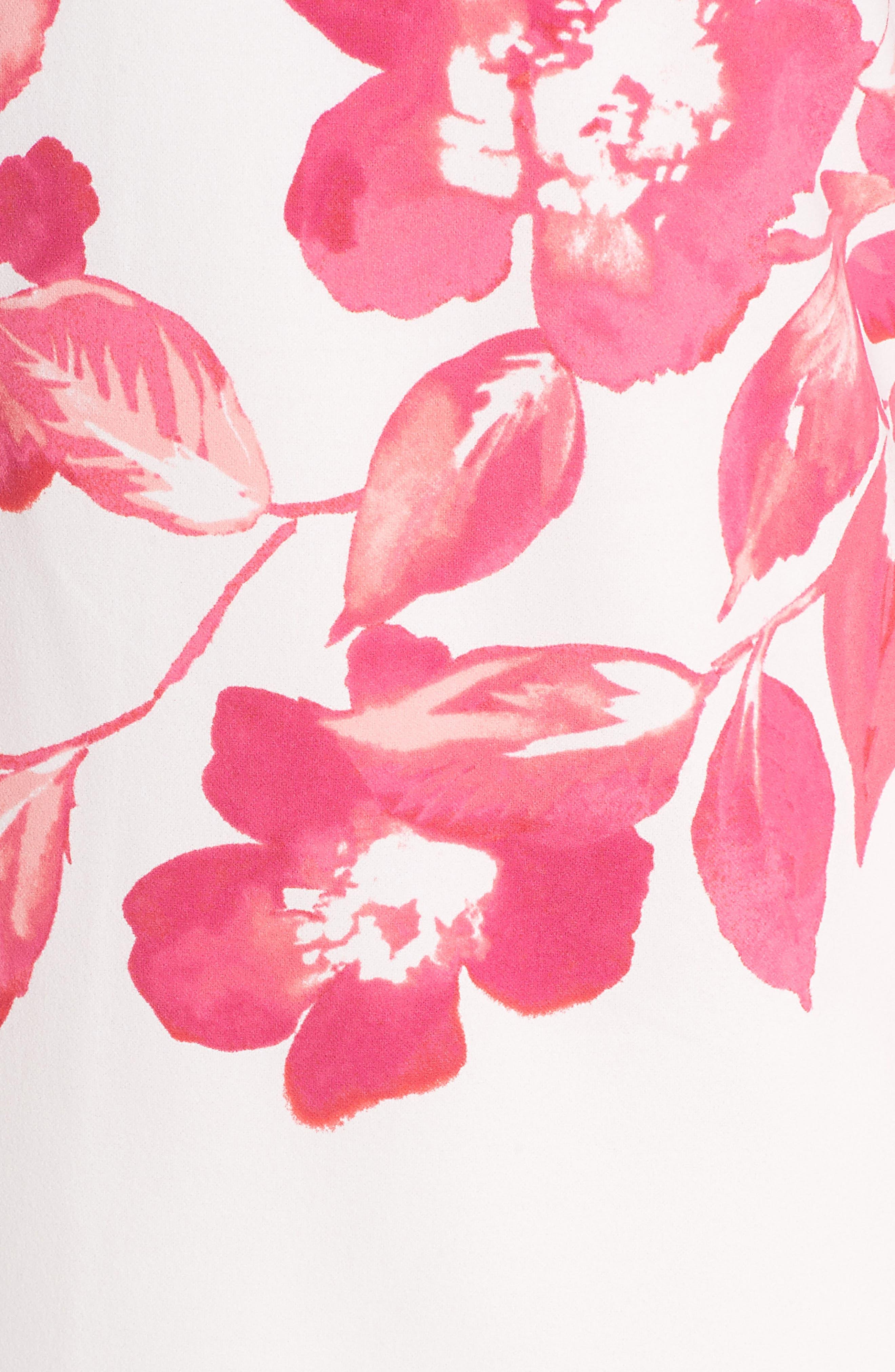 Floral Shift Dress,                             Alternate thumbnail 6, color,                             PINK