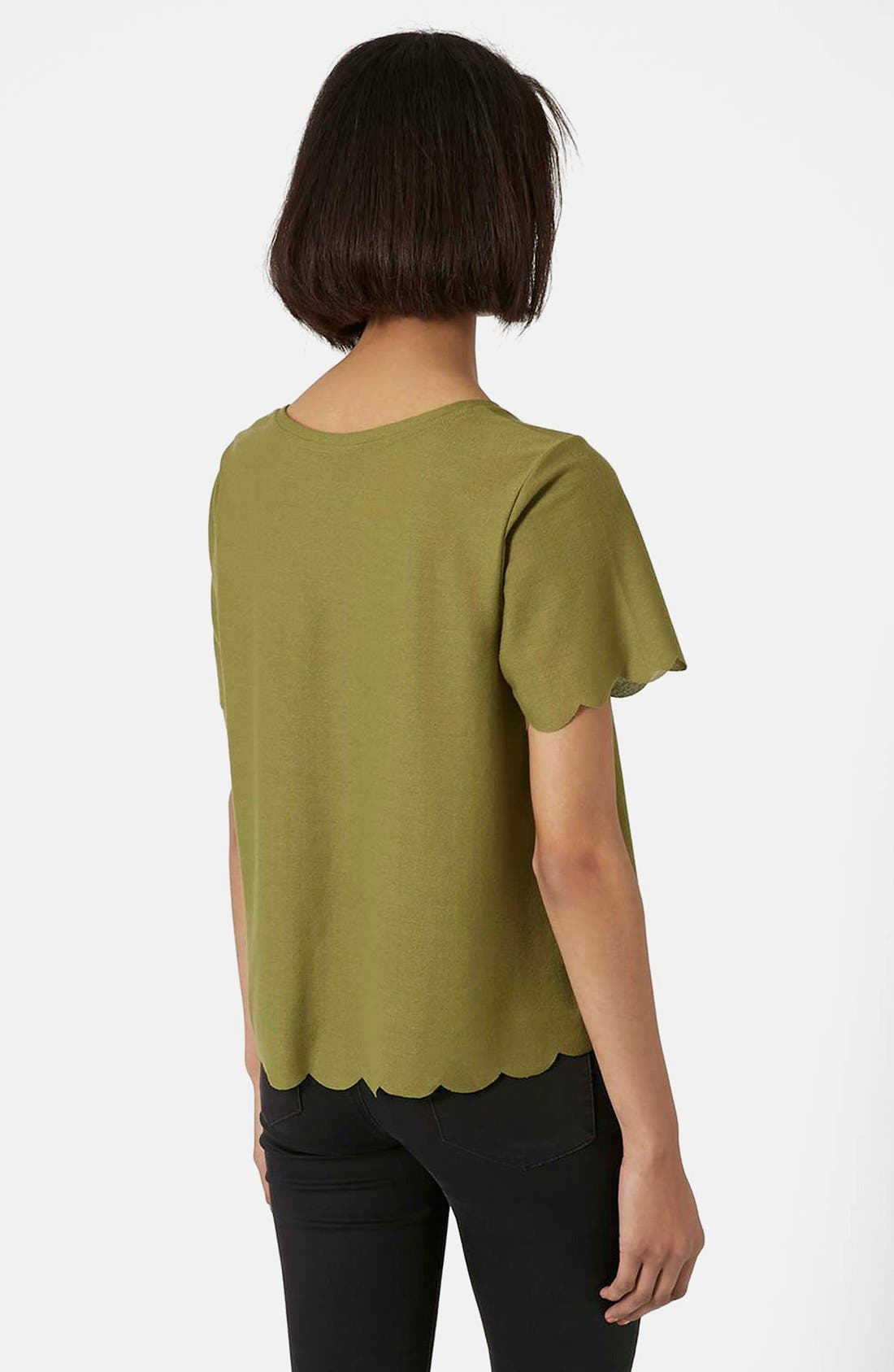 Scallop Frill Tee,                             Alternate thumbnail 37, color,