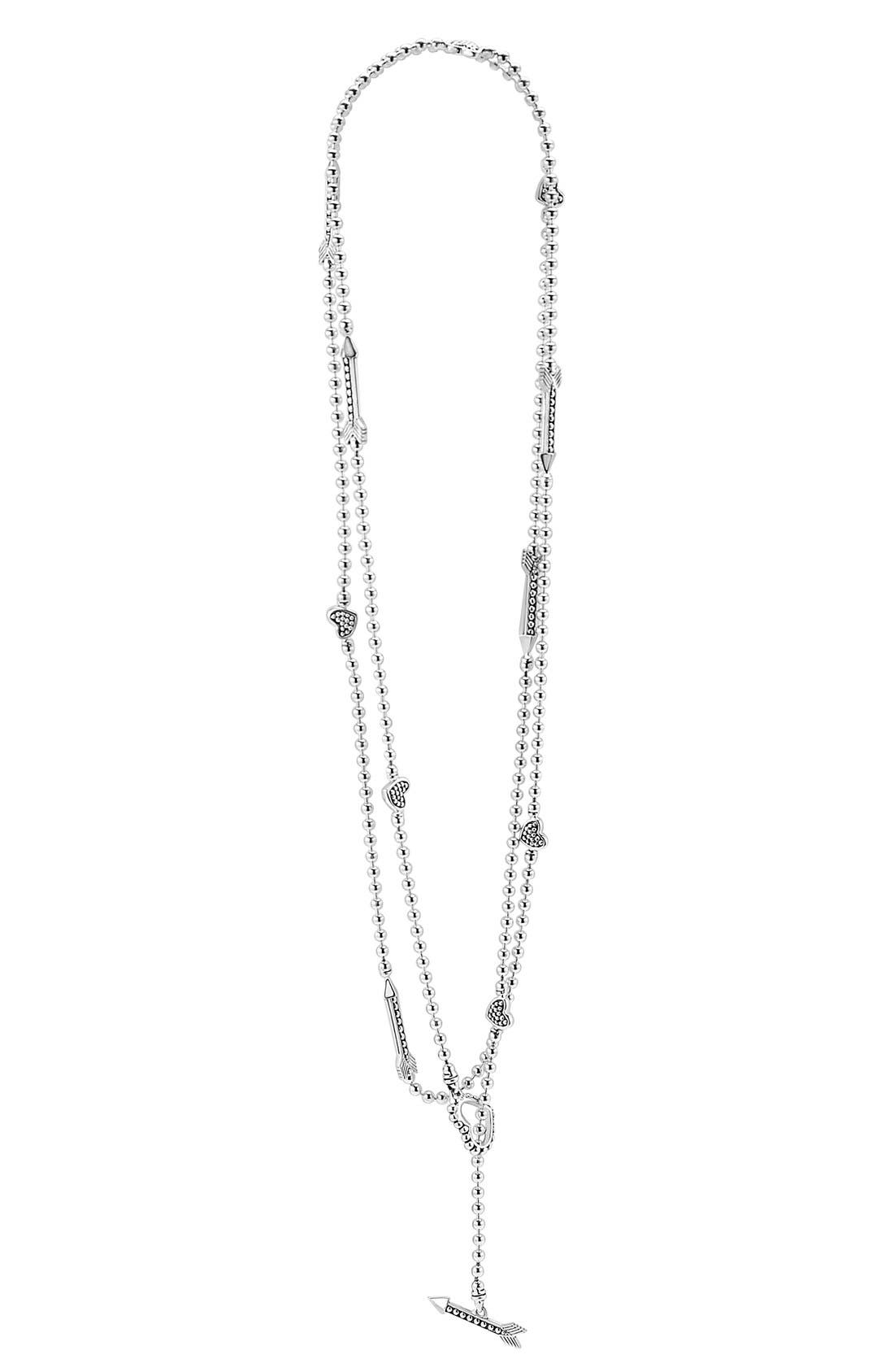 'Beloved' Heart & Arrow Toggle Necklace,                         Main,                         color, 040