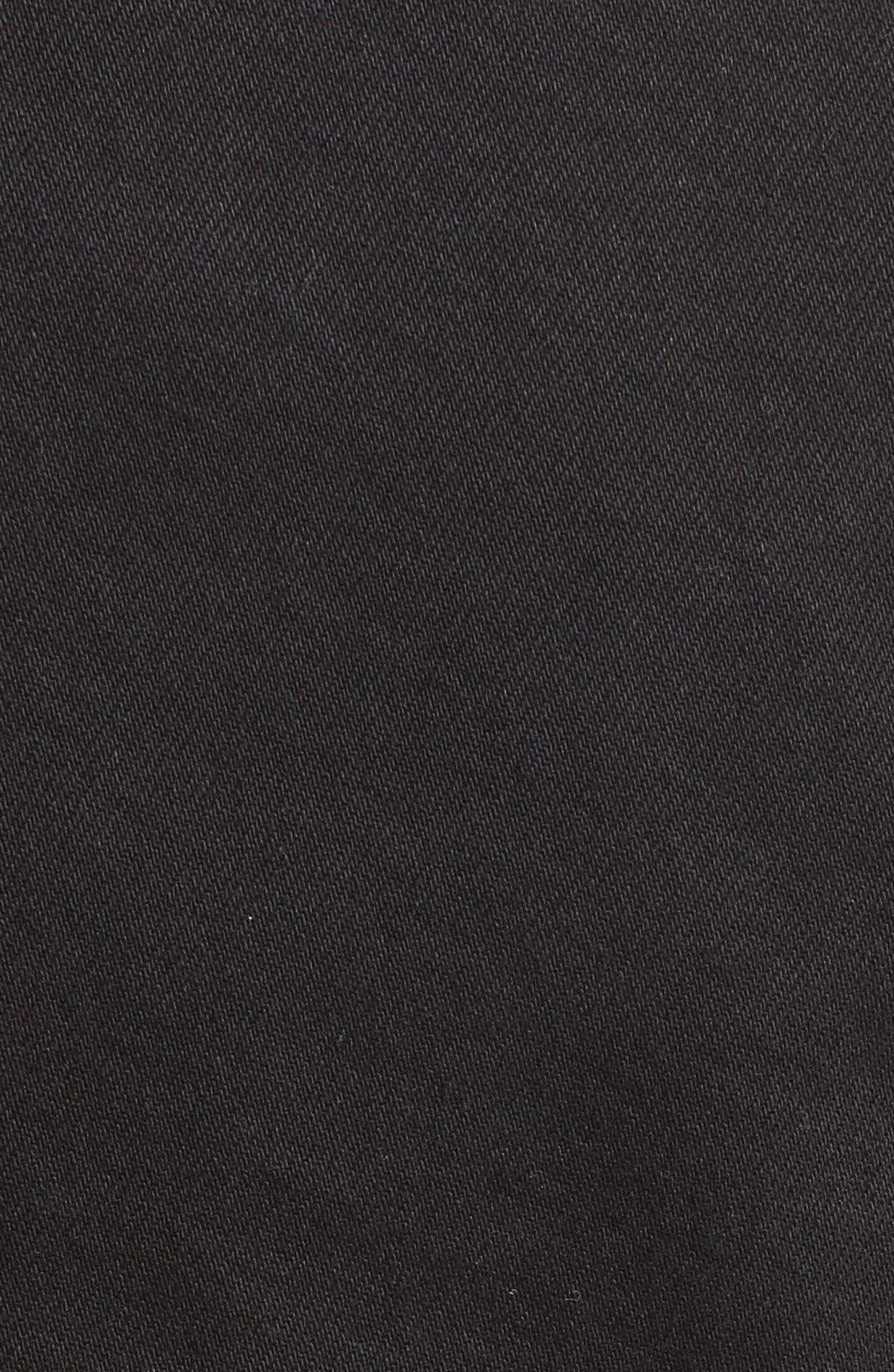 Peplum Denim Jacket,                             Alternate thumbnail 6, color,                             001