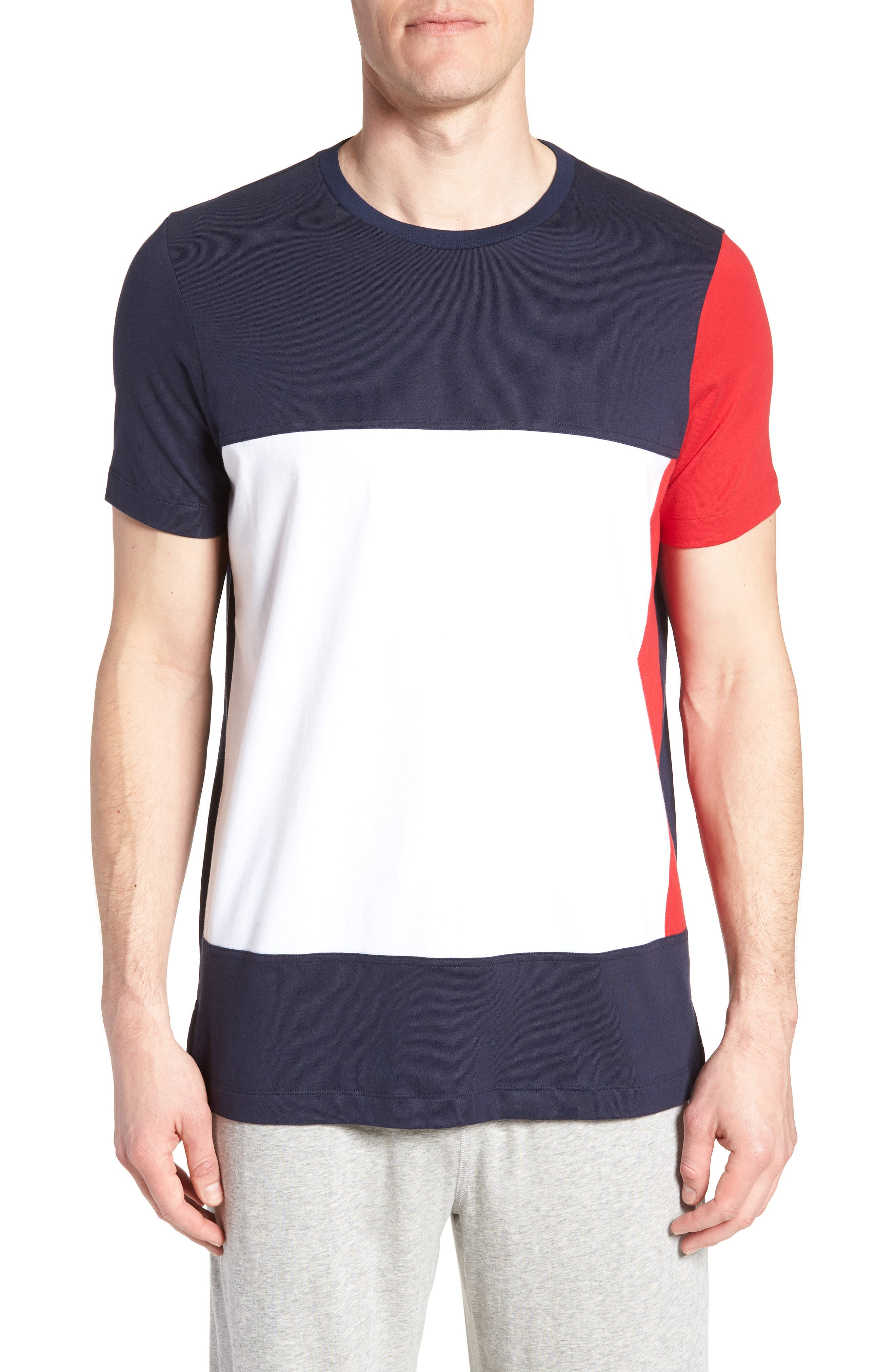 Colorblock T-Shirt,                         Main,                         color, DARK NAVY