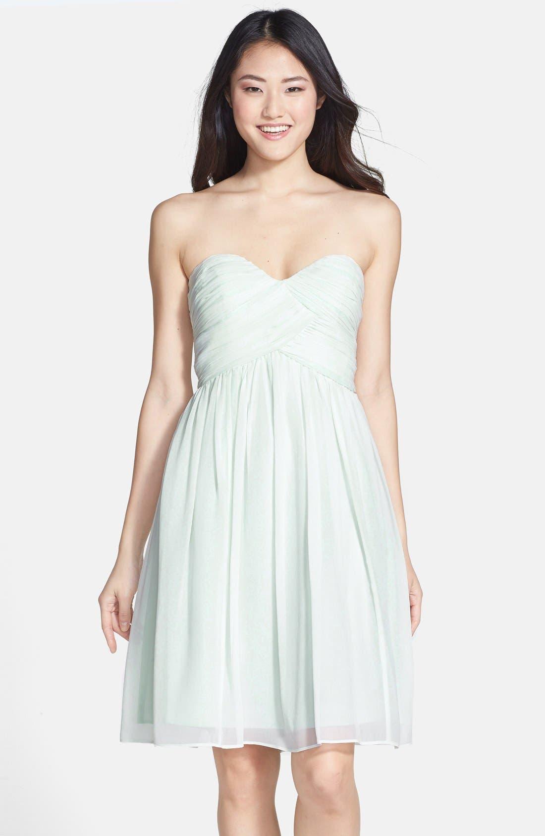 'Morgan' Strapless Silk Chiffon Dress,                             Alternate thumbnail 149, color,