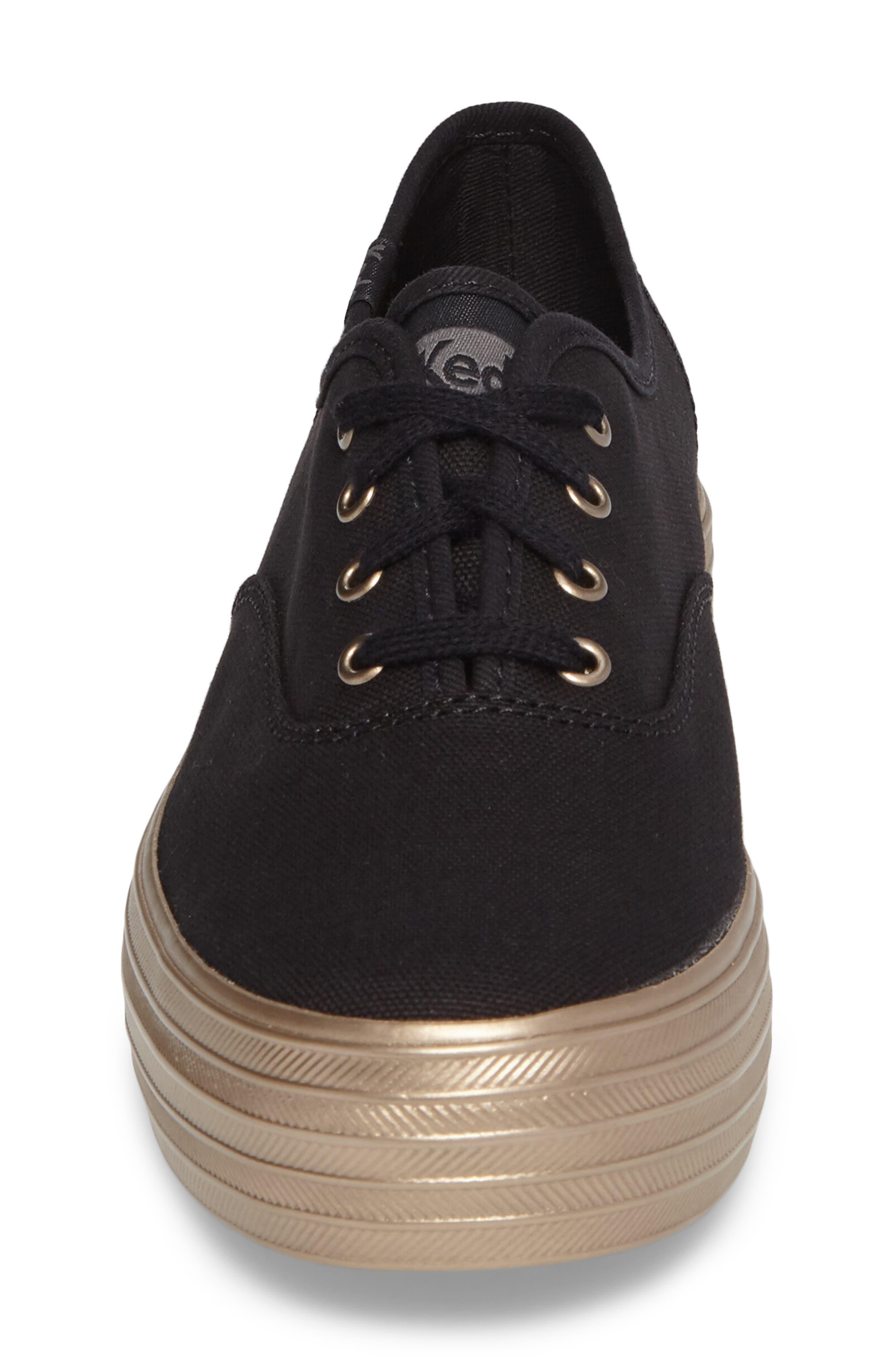 Triple Shimmer Platform Sneaker,                             Alternate thumbnail 4, color,                             002