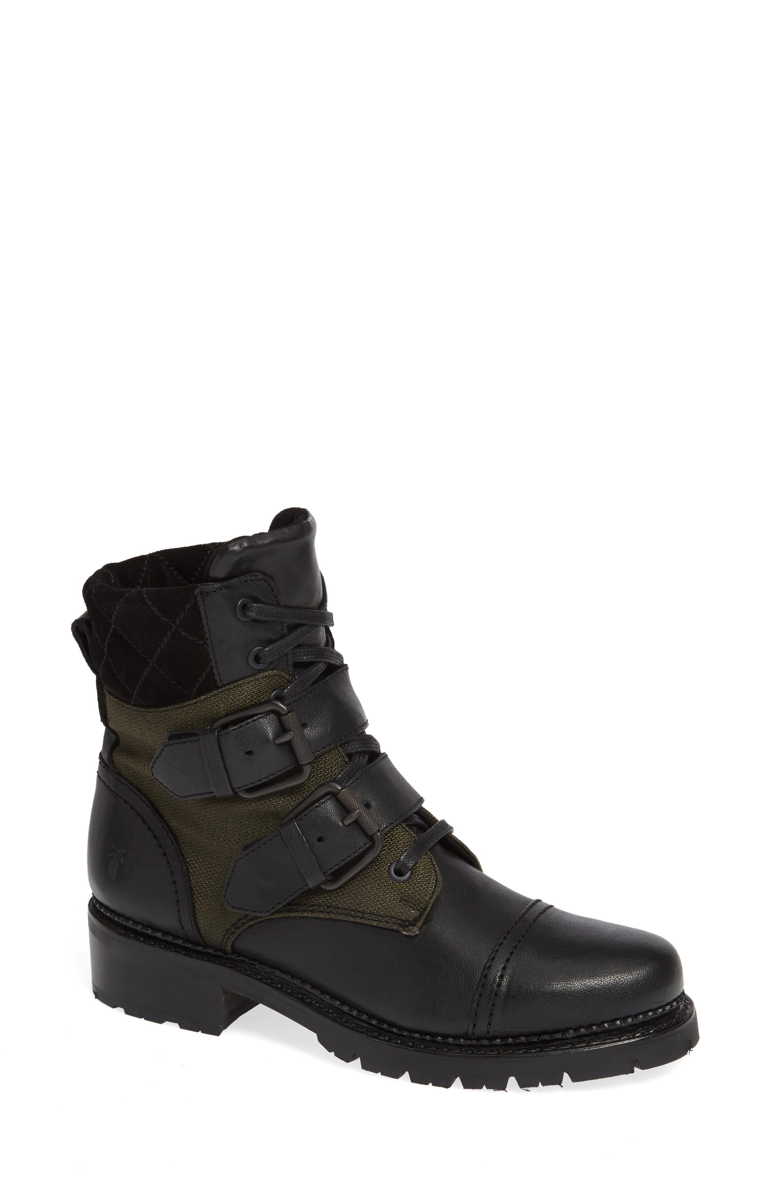 Frye Samantha Hiking Boot- Black