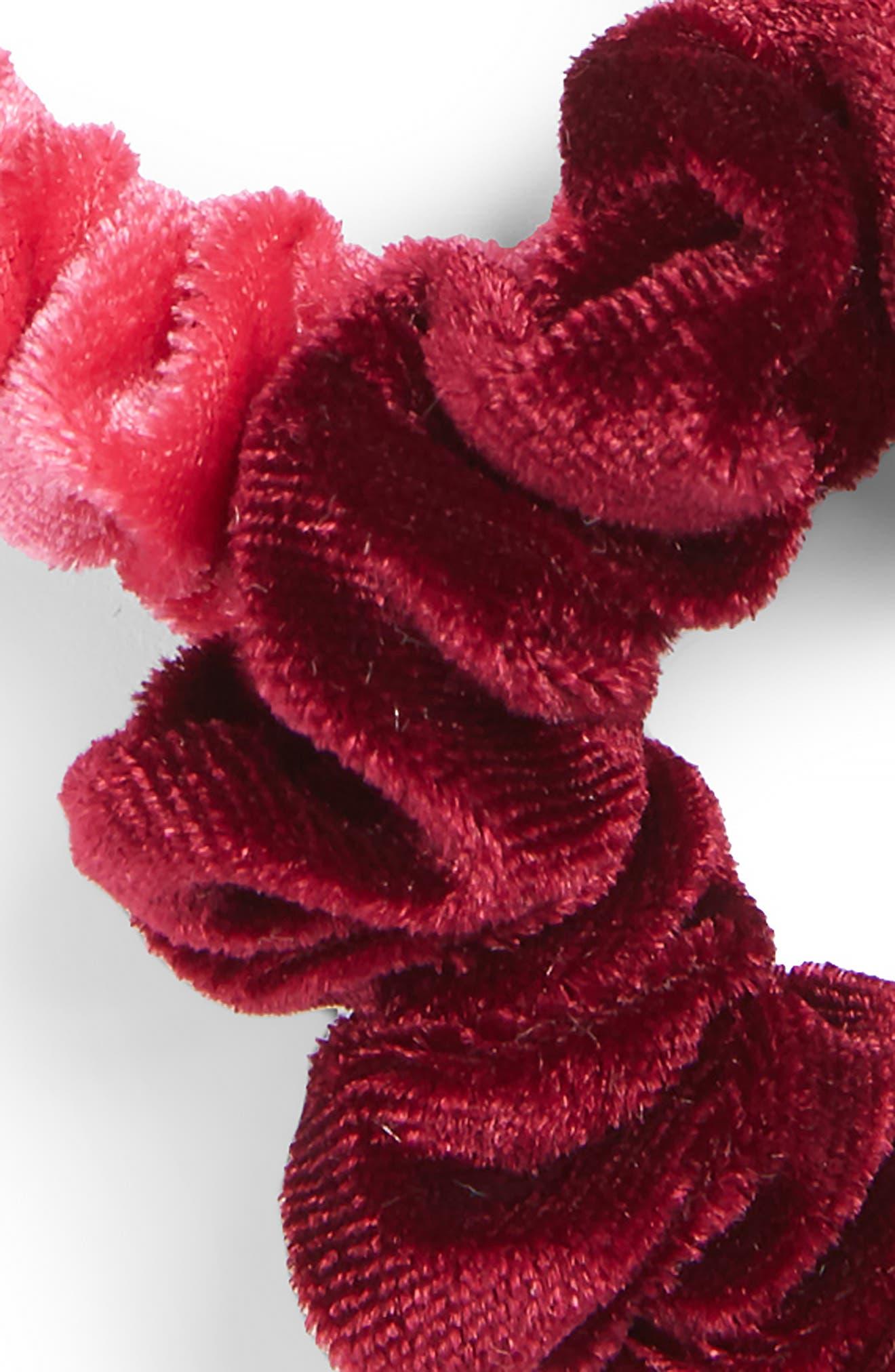 5-Pack Velvet Scrunchies,                             Alternate thumbnail 2, color,                             501