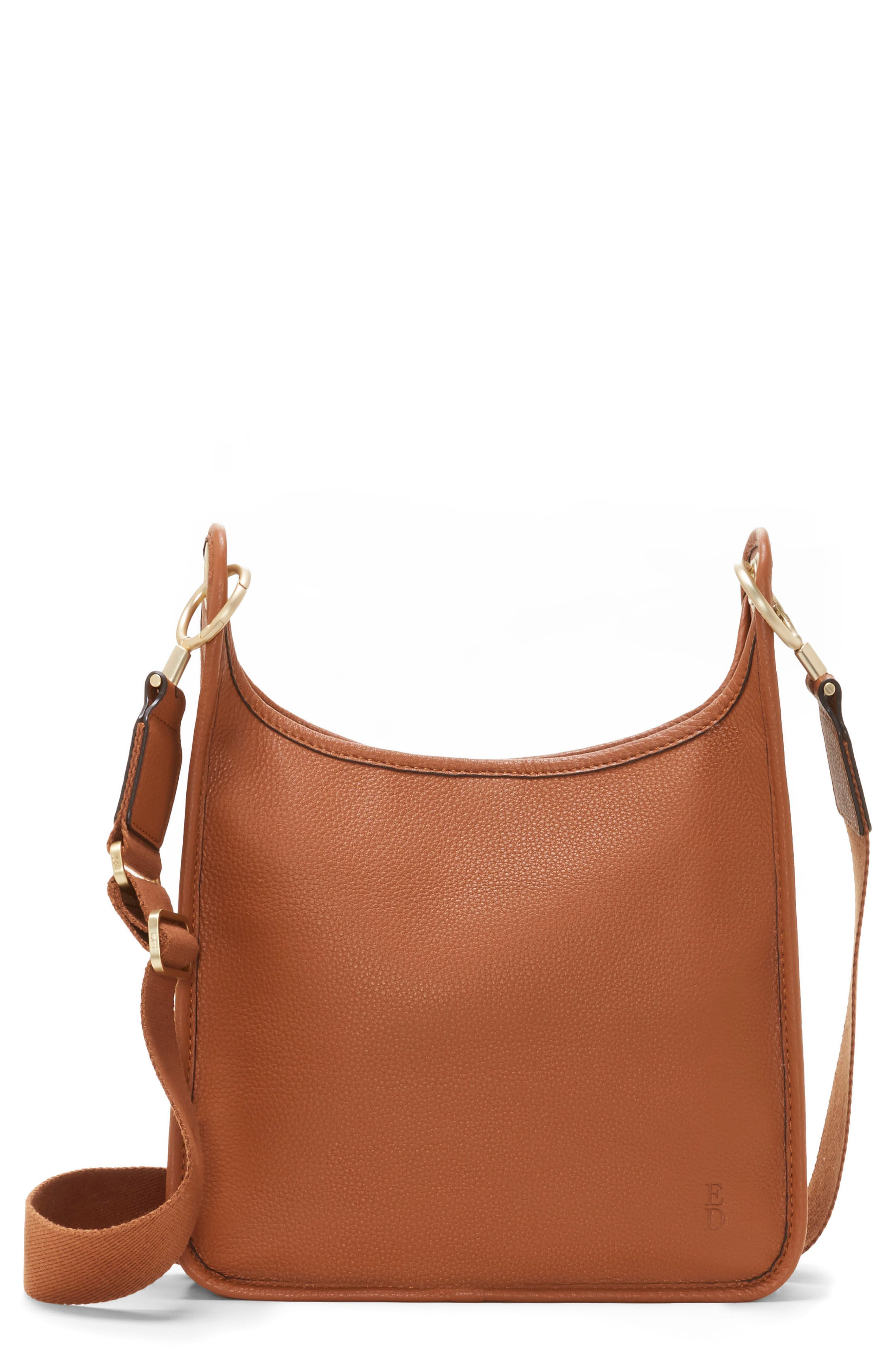 Leather Crossbody Bag,                         Main,                         color, 201