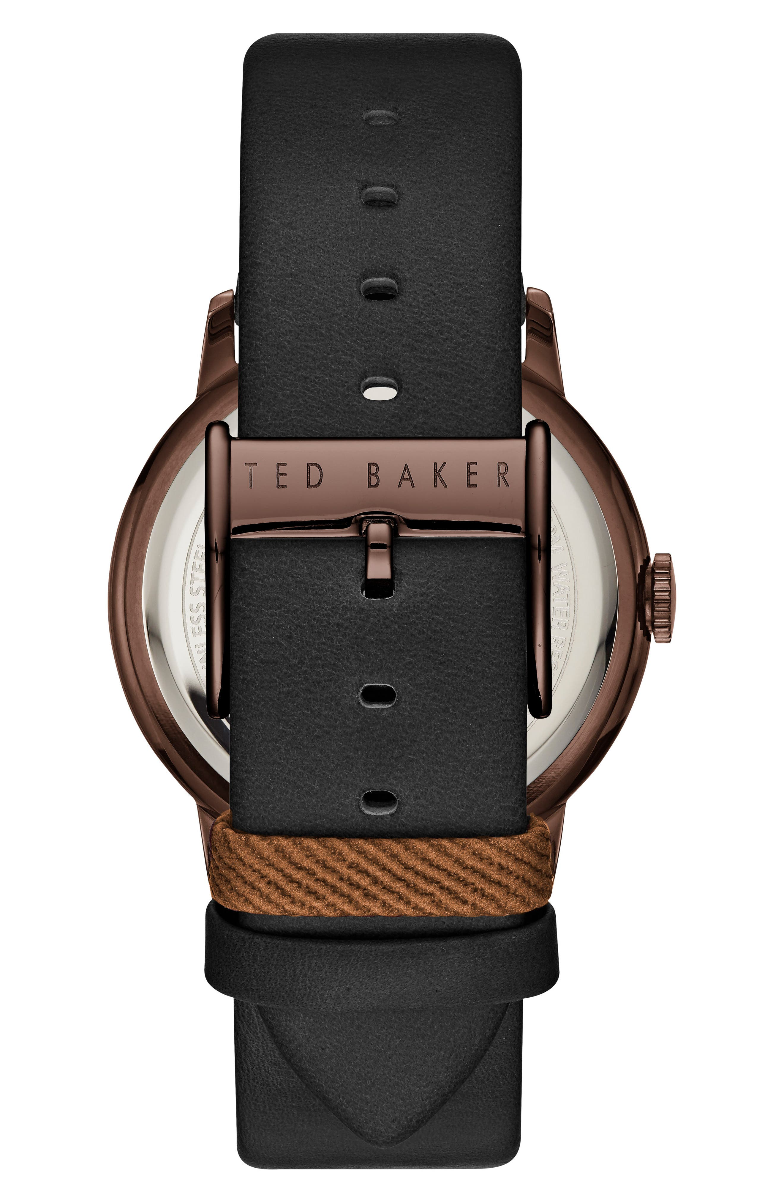 Thomas Leather Strap Watch, 41mm,                             Alternate thumbnail 2, color,                             001