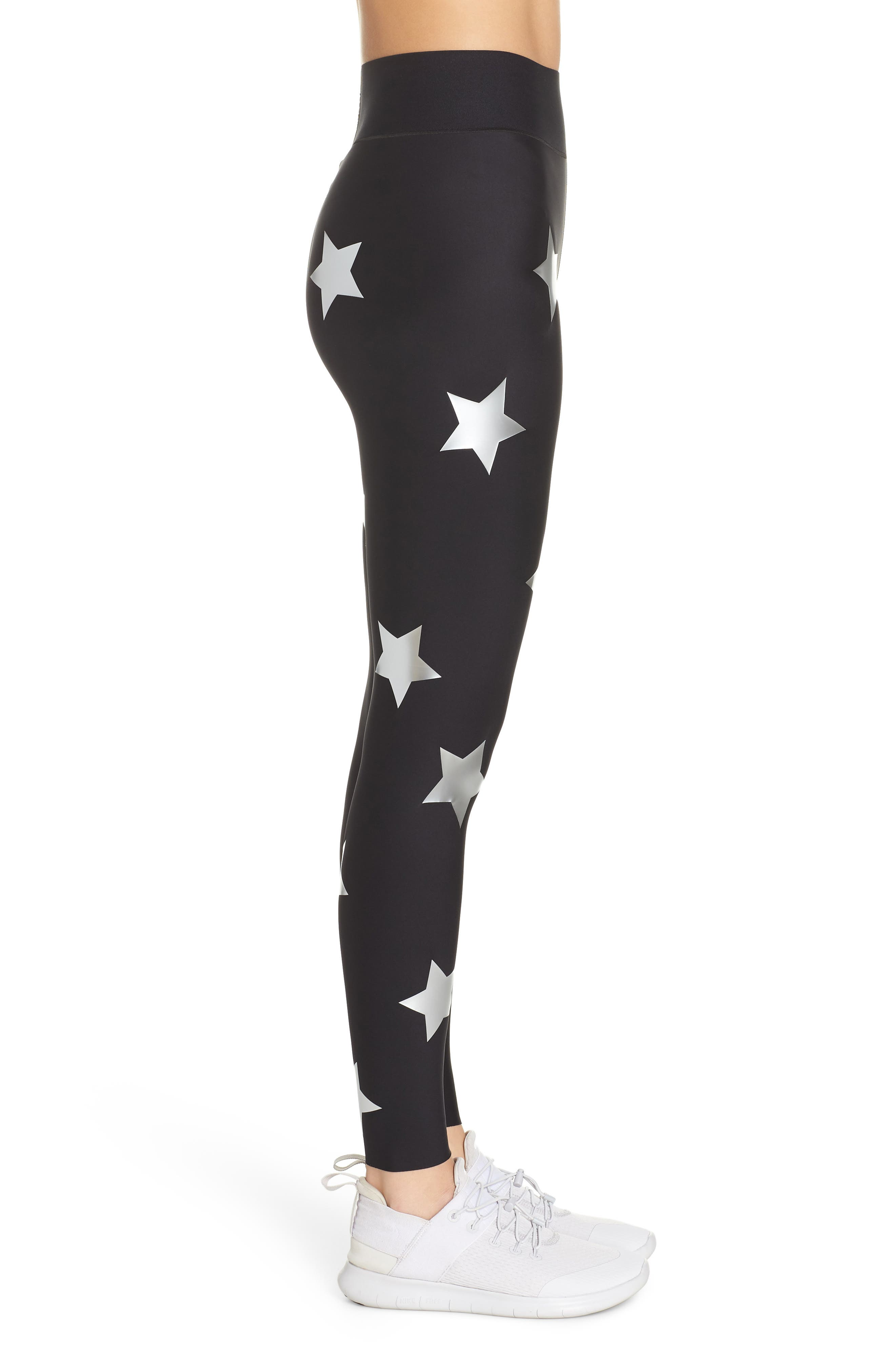 Lux Knockout Leggings,                             Alternate thumbnail 3, color,                             NERO SILVER