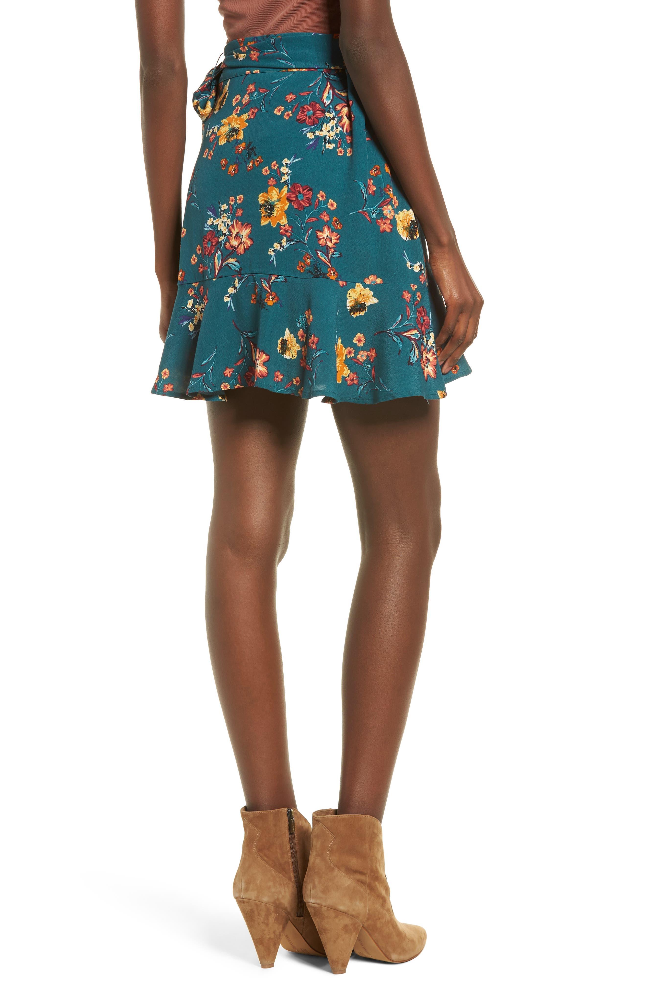 Aviana Ruffle Wrap Skirt,                             Alternate thumbnail 2, color,                             348