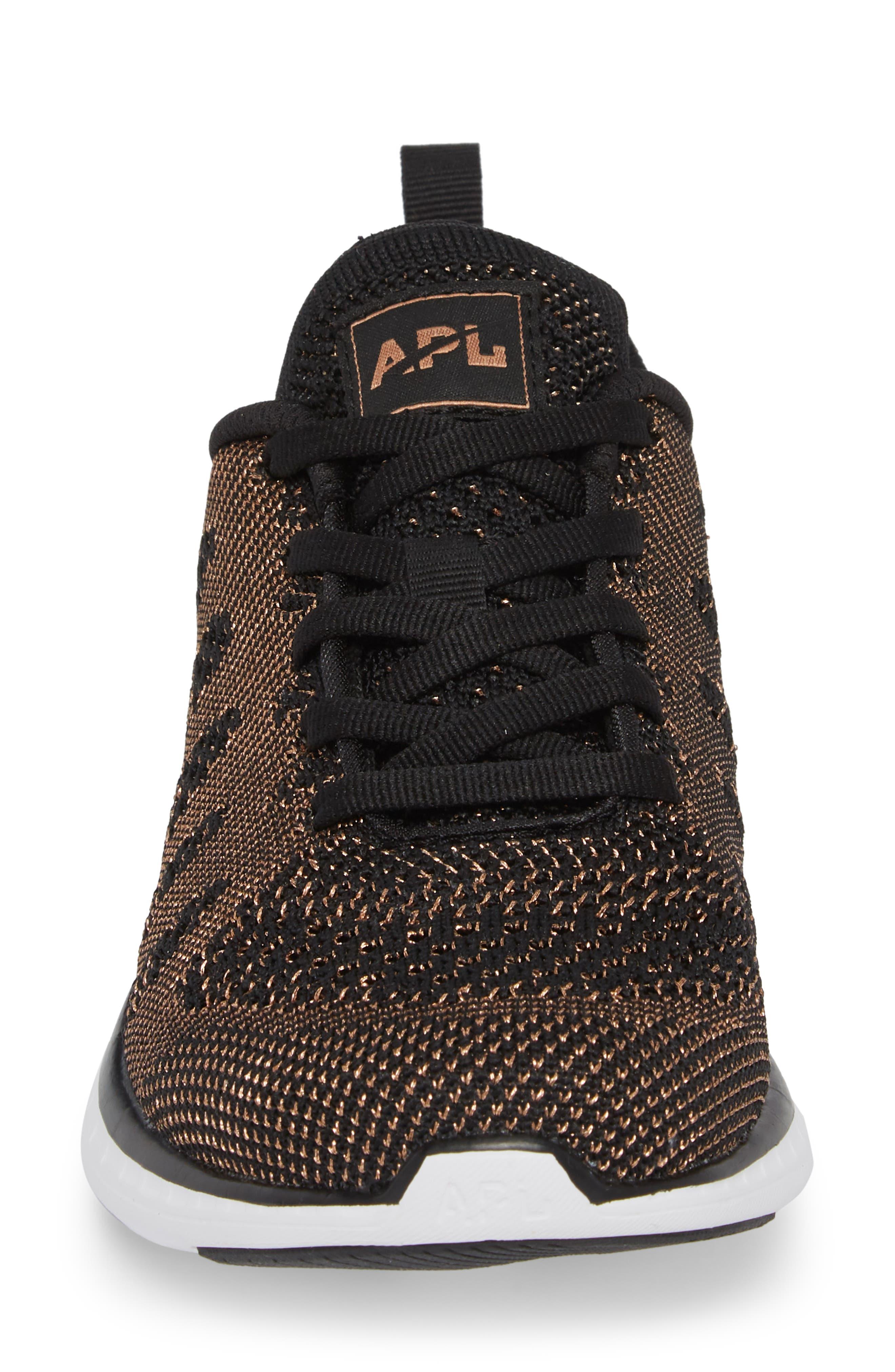 'Techloom Pro' Running Shoe,                             Alternate thumbnail 4, color,                             BLACK/ ROSE GOLD