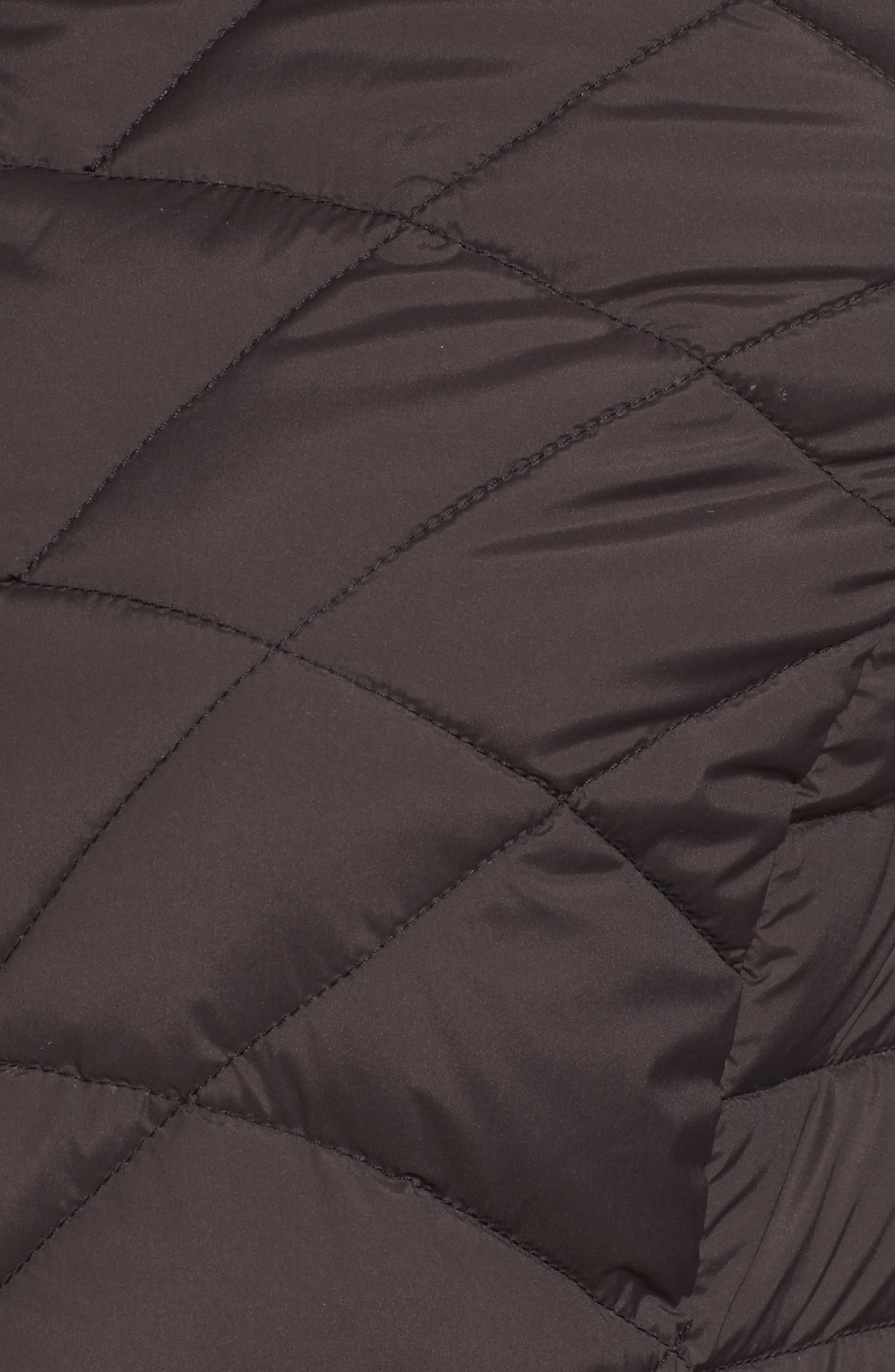 Packable Hooded Down & PrimaLoft<sup>®</sup> Walker Jacket,                             Alternate thumbnail 5, color,                             001