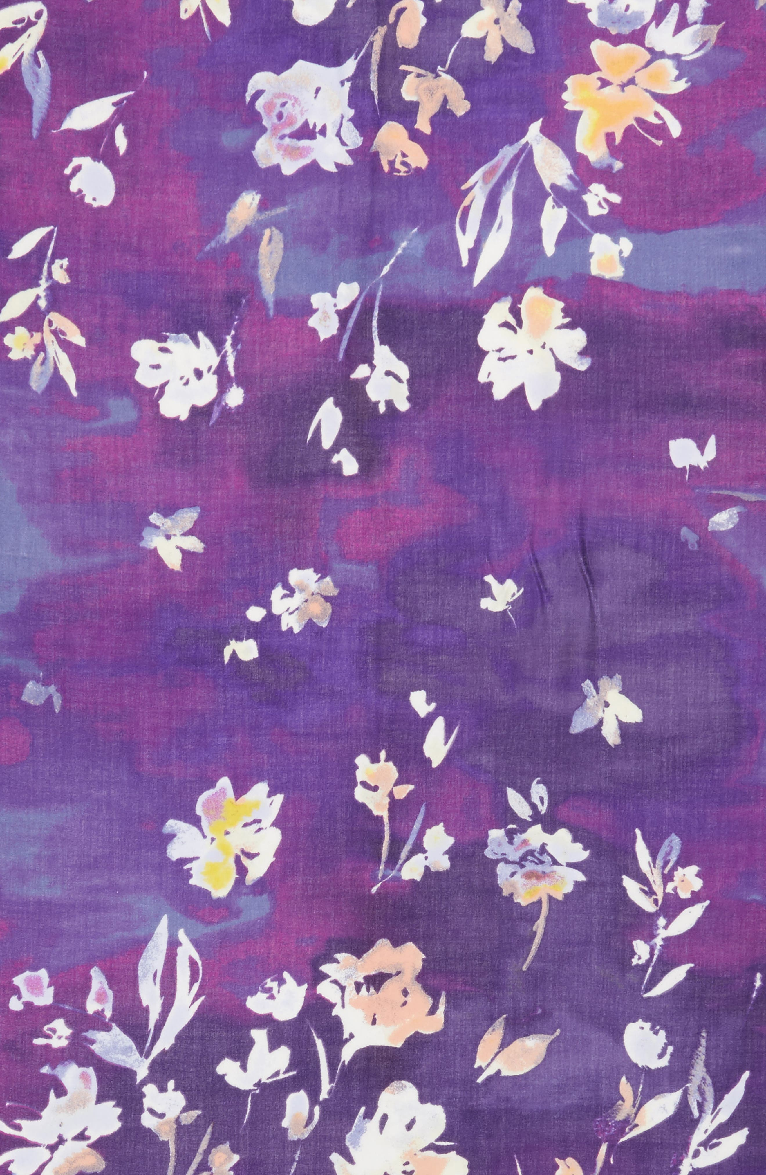 Musical Flower Cashmere & Silk Scarf,                             Alternate thumbnail 11, color,