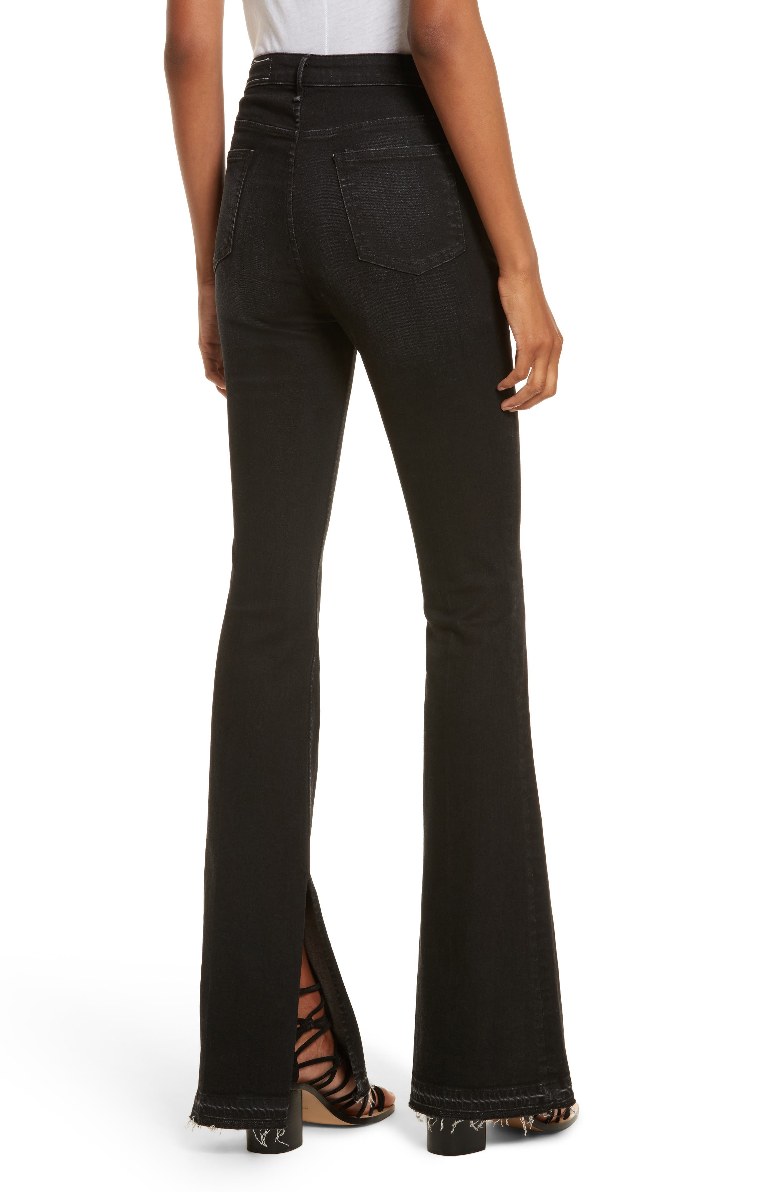 Bella Flare Jeans,                             Alternate thumbnail 2, color,                             001