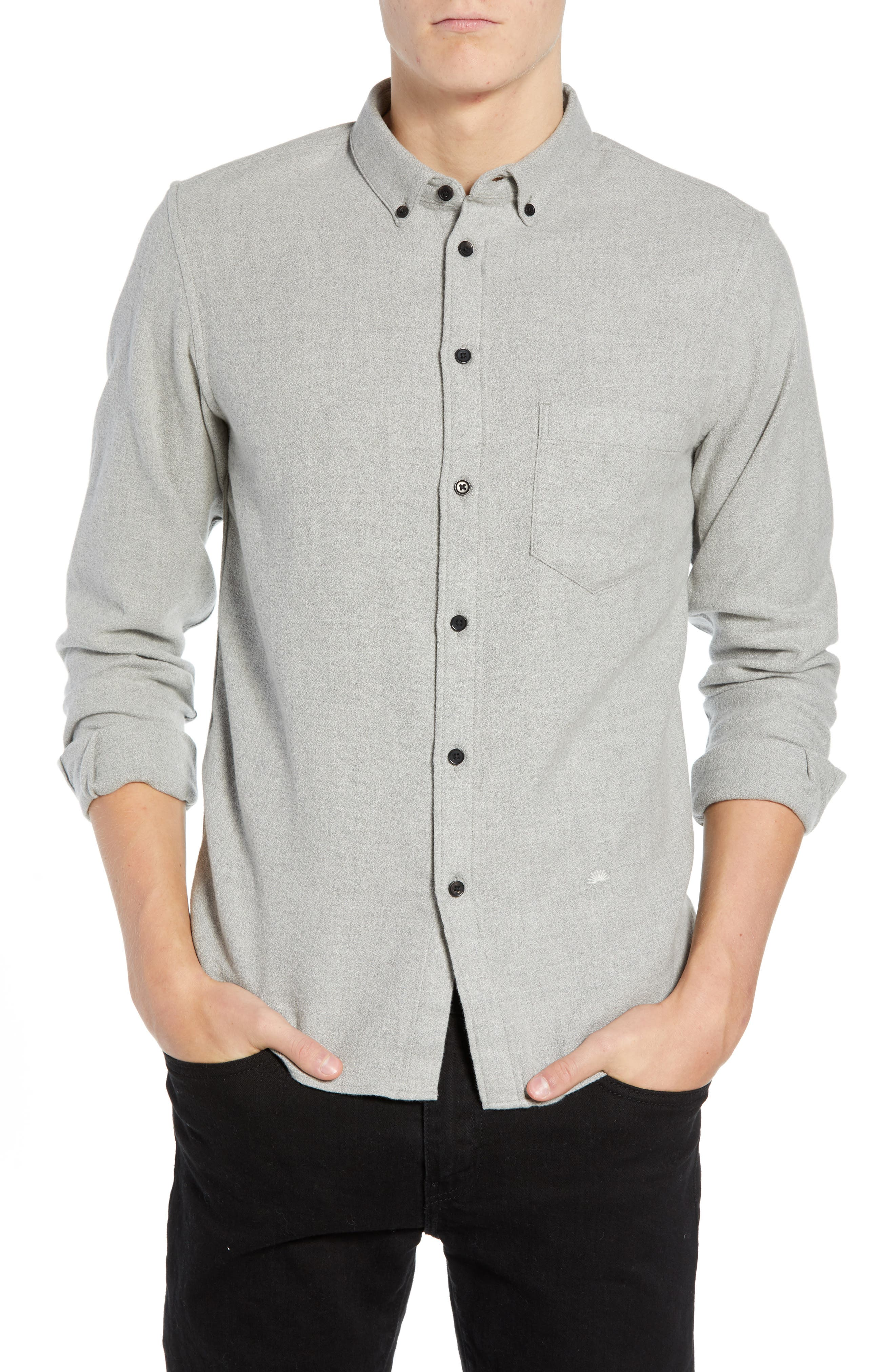 Levi's<sup>®</sup> Made & Crafted Regular Fit Mélange Shirt,                         Main,                         color, 020