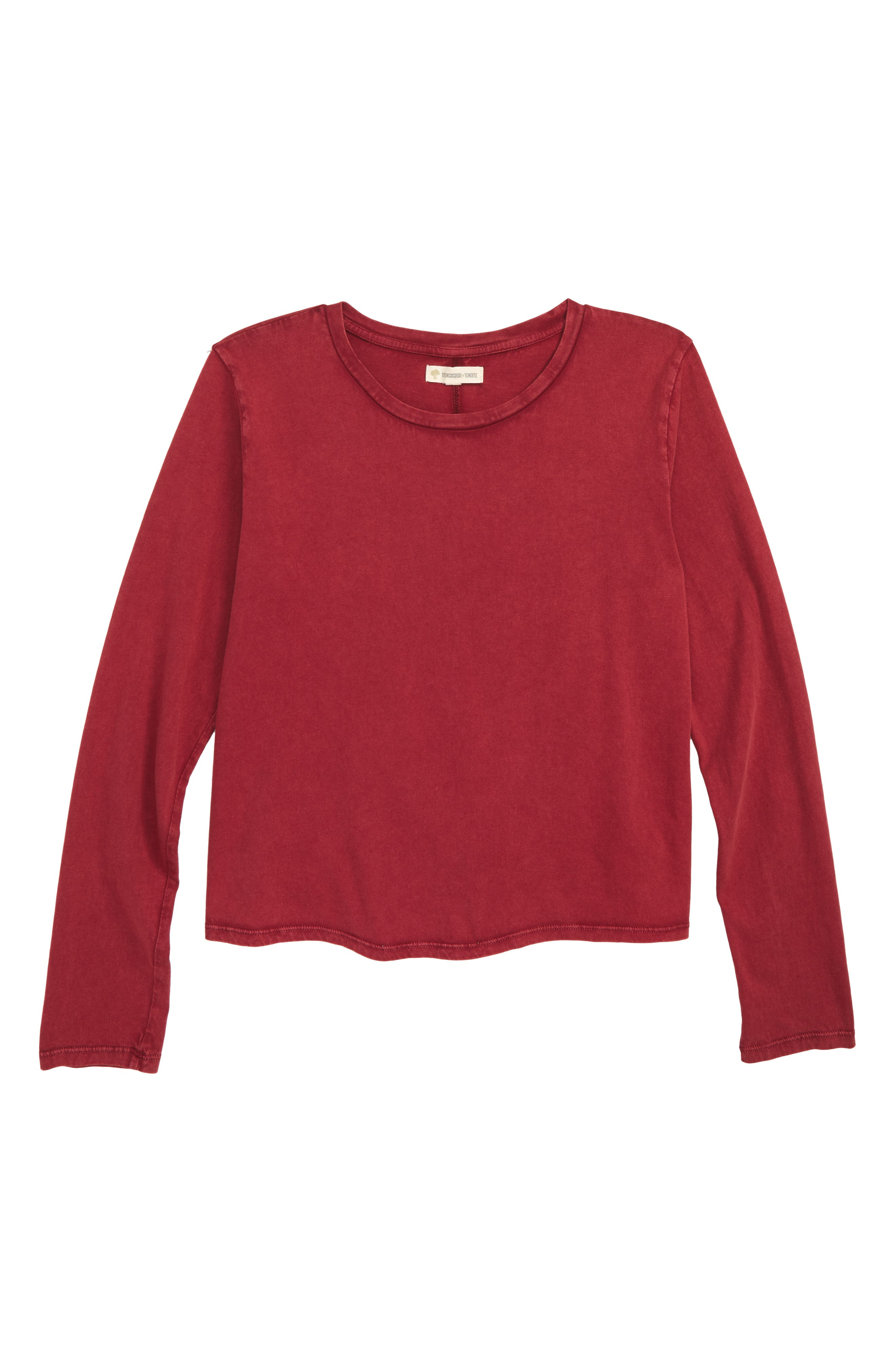 Girls Tucker  Tate Knot Back Washed Tee Size L (1012)  Red