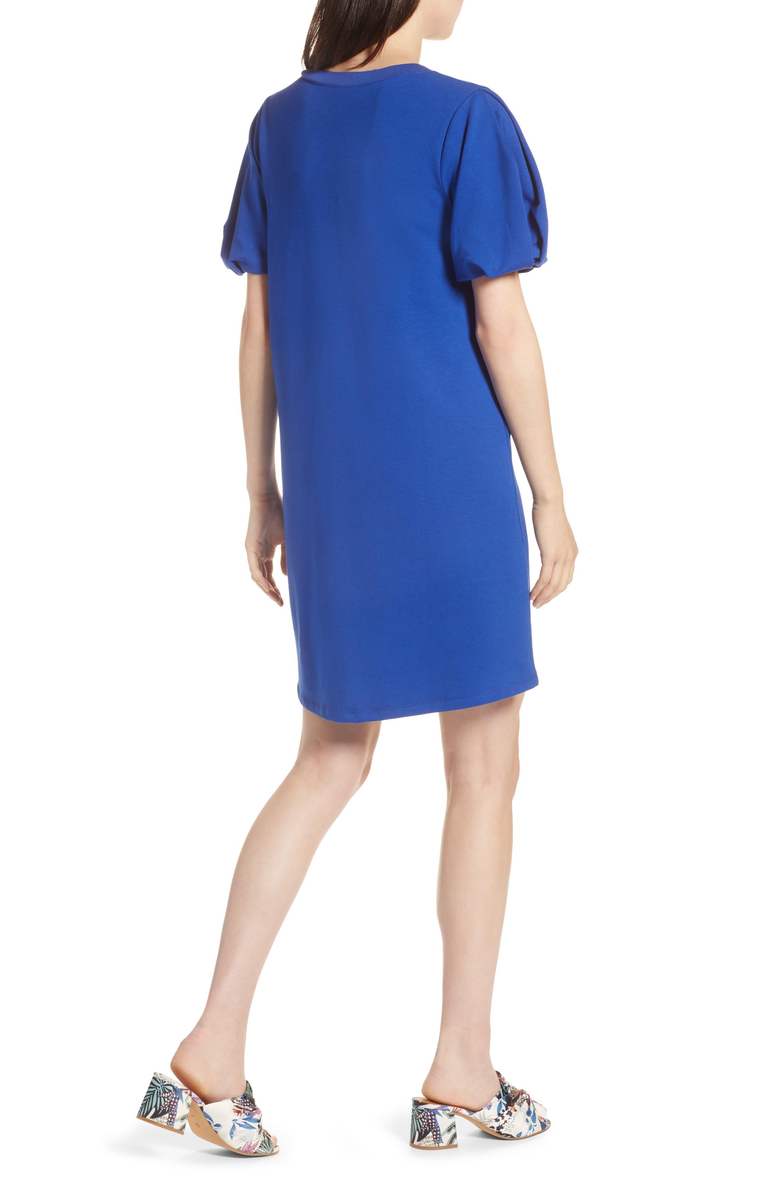 Bubble Sleeve Dress,                             Alternate thumbnail 9, color,