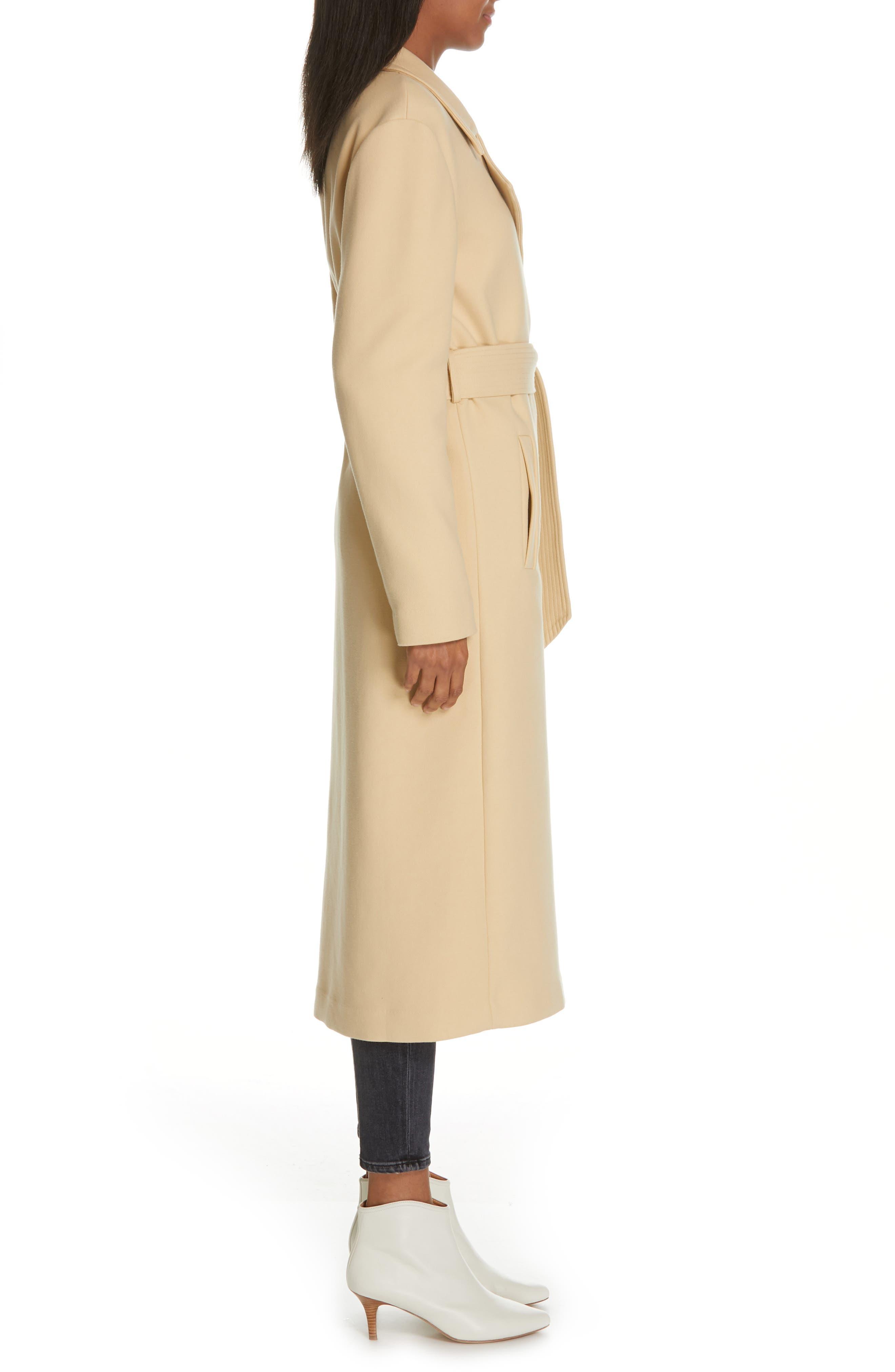 Alyssandra Trench Coat,                             Alternate thumbnail 3, color,                             BISCUIT