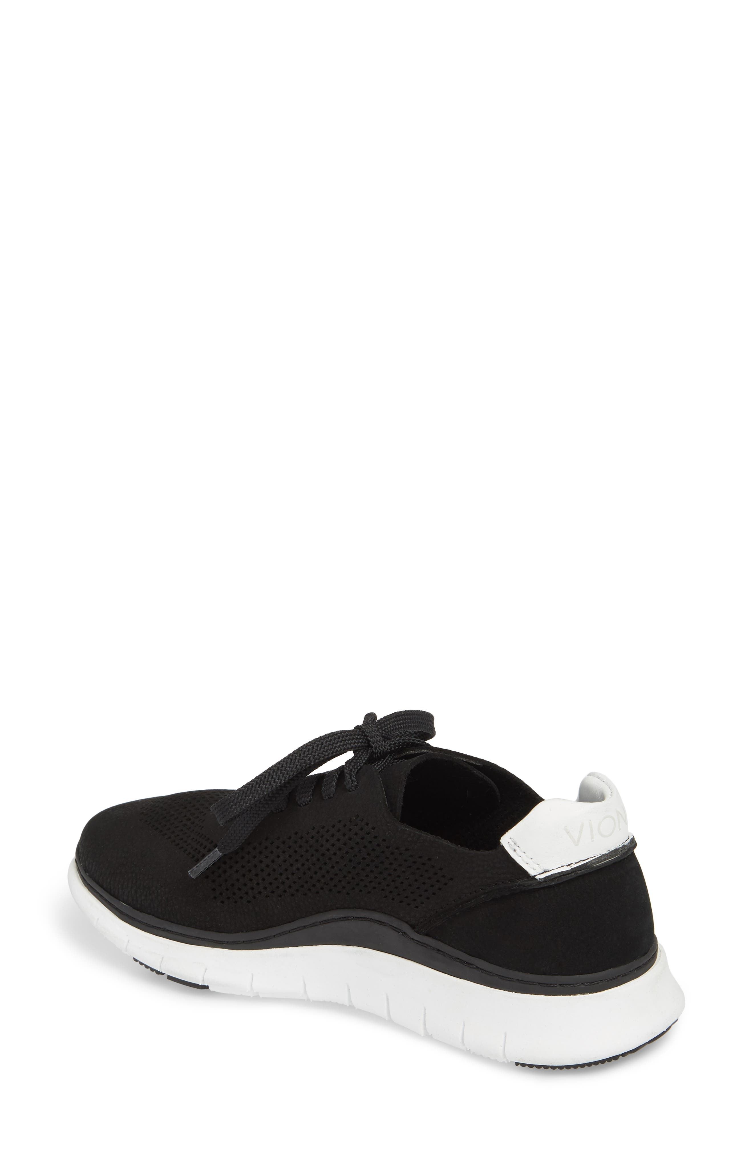 Joey Sneaker,                             Alternate thumbnail 2, color,                             BLACK NUBUCK LEATHER