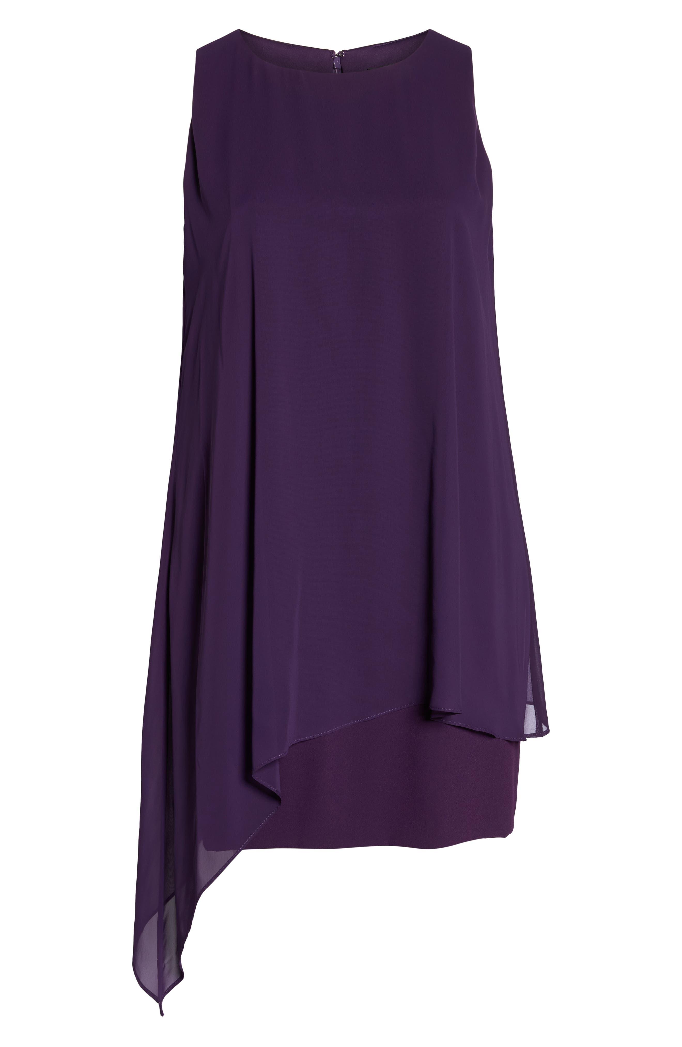 Sleeveless Overlay Crepe Sheath Dress,                             Alternate thumbnail 7, color,                             515