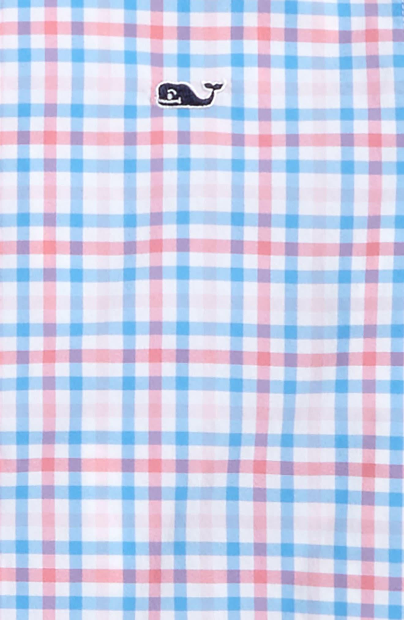 Gulf Shore Gingham Performance Woven Shirt,                             Alternate thumbnail 2, color,                             400