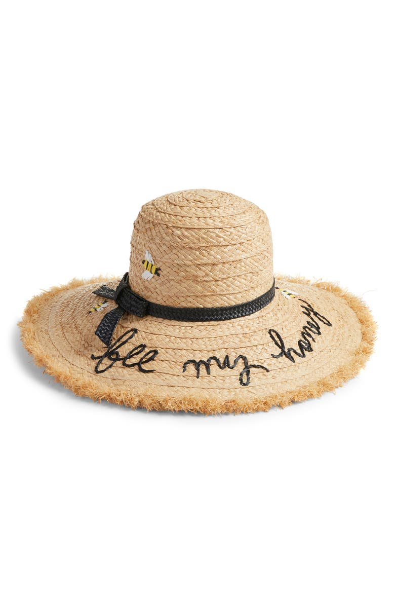 kate spade new york bee my honey raffia sun hat  cfd286903b5