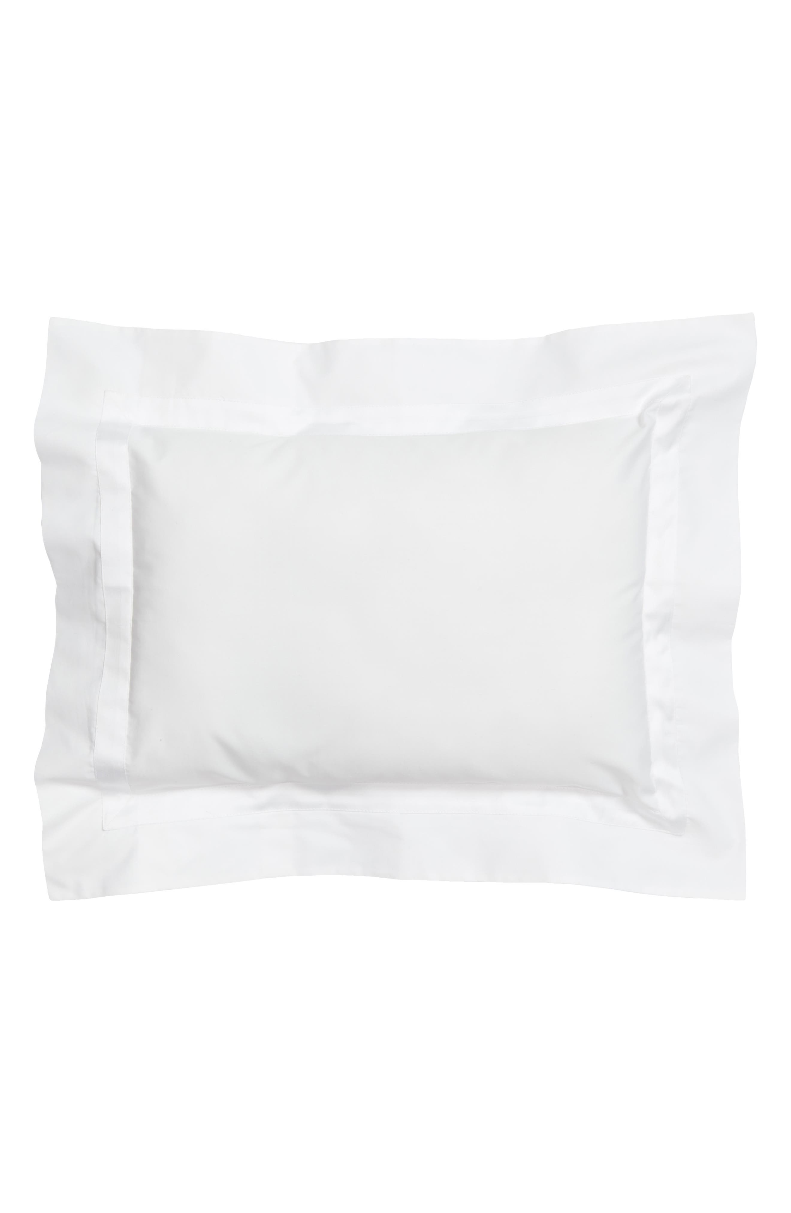 Lowell 600 Thread Count Sham,                         Main,                         color, WHITE