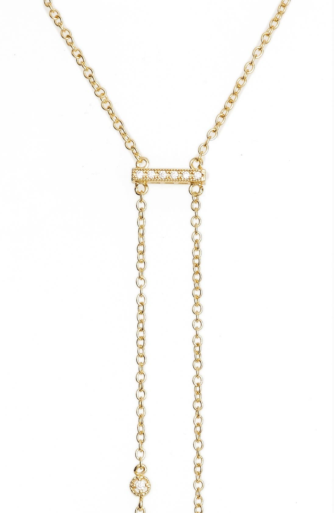 Double Hang Y-Necklace,                             Alternate thumbnail 6, color,                             GOLD