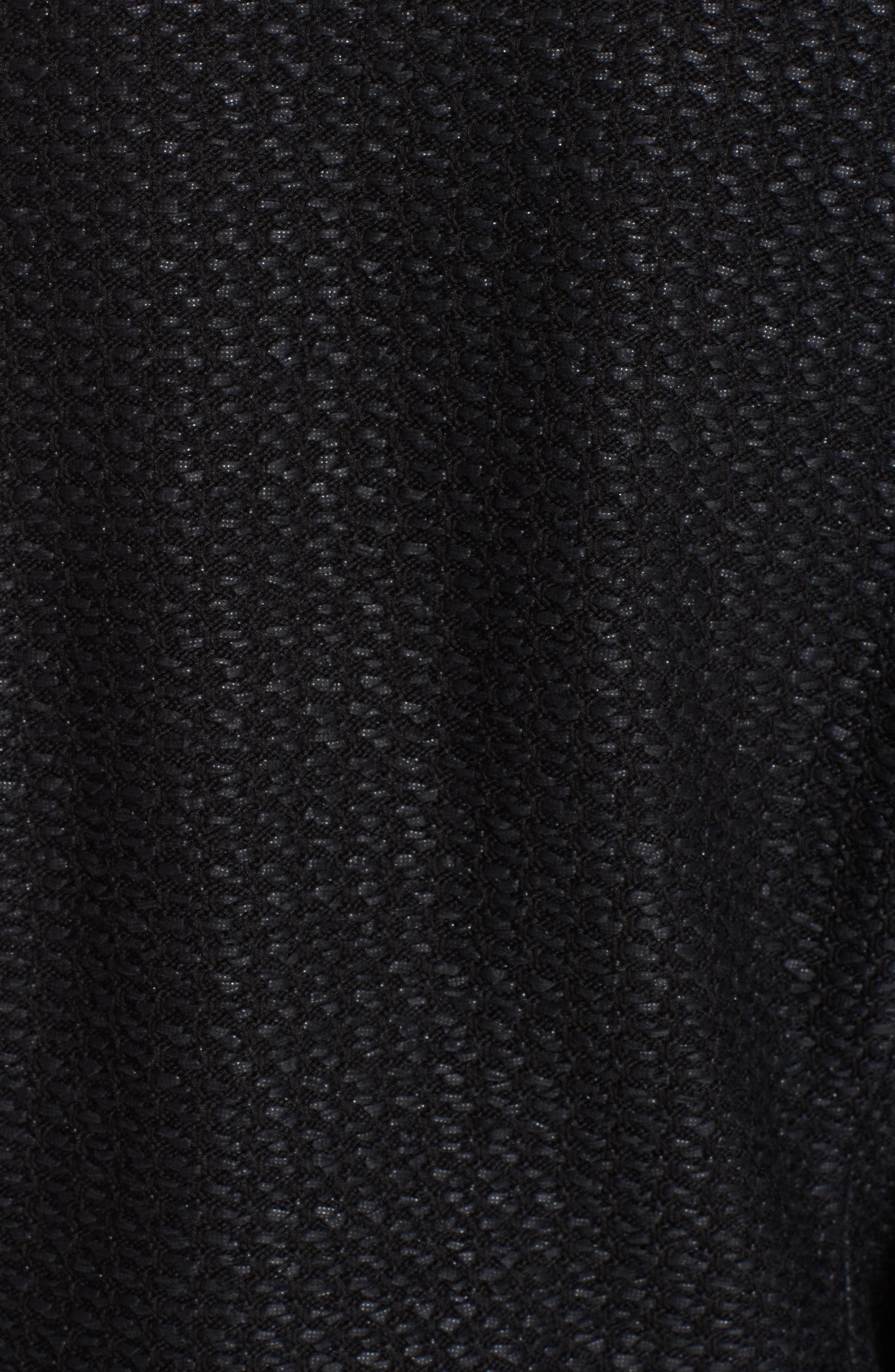 Adina Knit Short Jacket,                             Alternate thumbnail 6, color,                             CAVIAR
