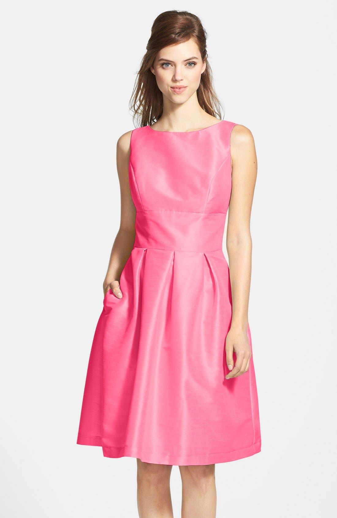 Dupioni Fit & Flare Dress,                             Main thumbnail 13, color,