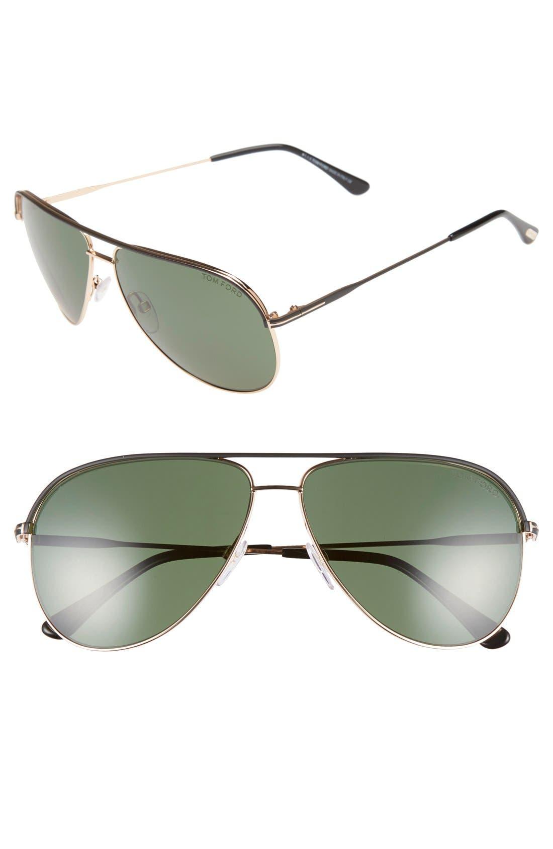 'Erin' 61mm Aviator Sunglasses,                             Main thumbnail 1, color,                             001