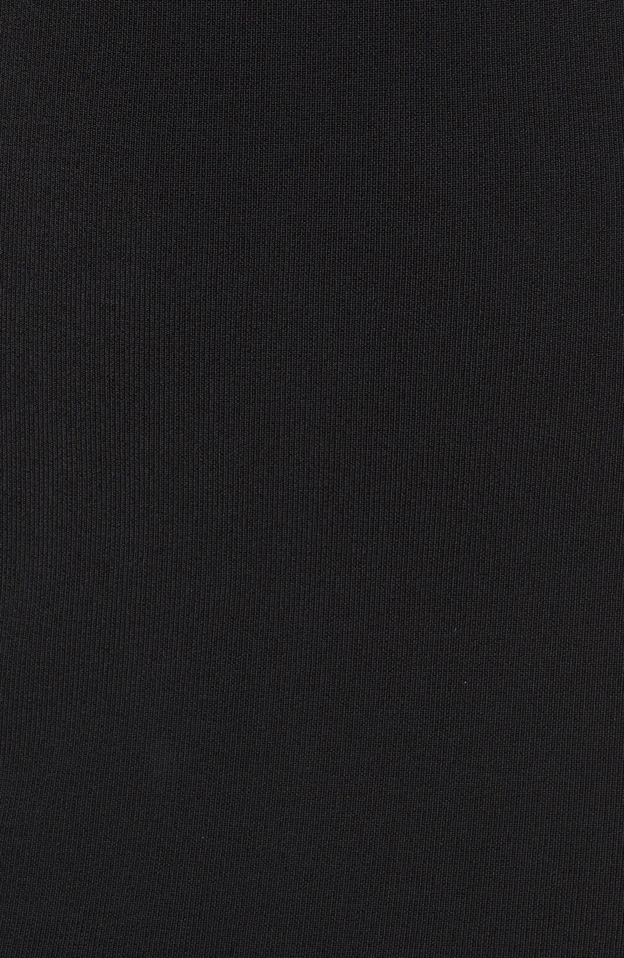 Halter Keyhole Sweater Dress,                             Alternate thumbnail 5, color,                             001