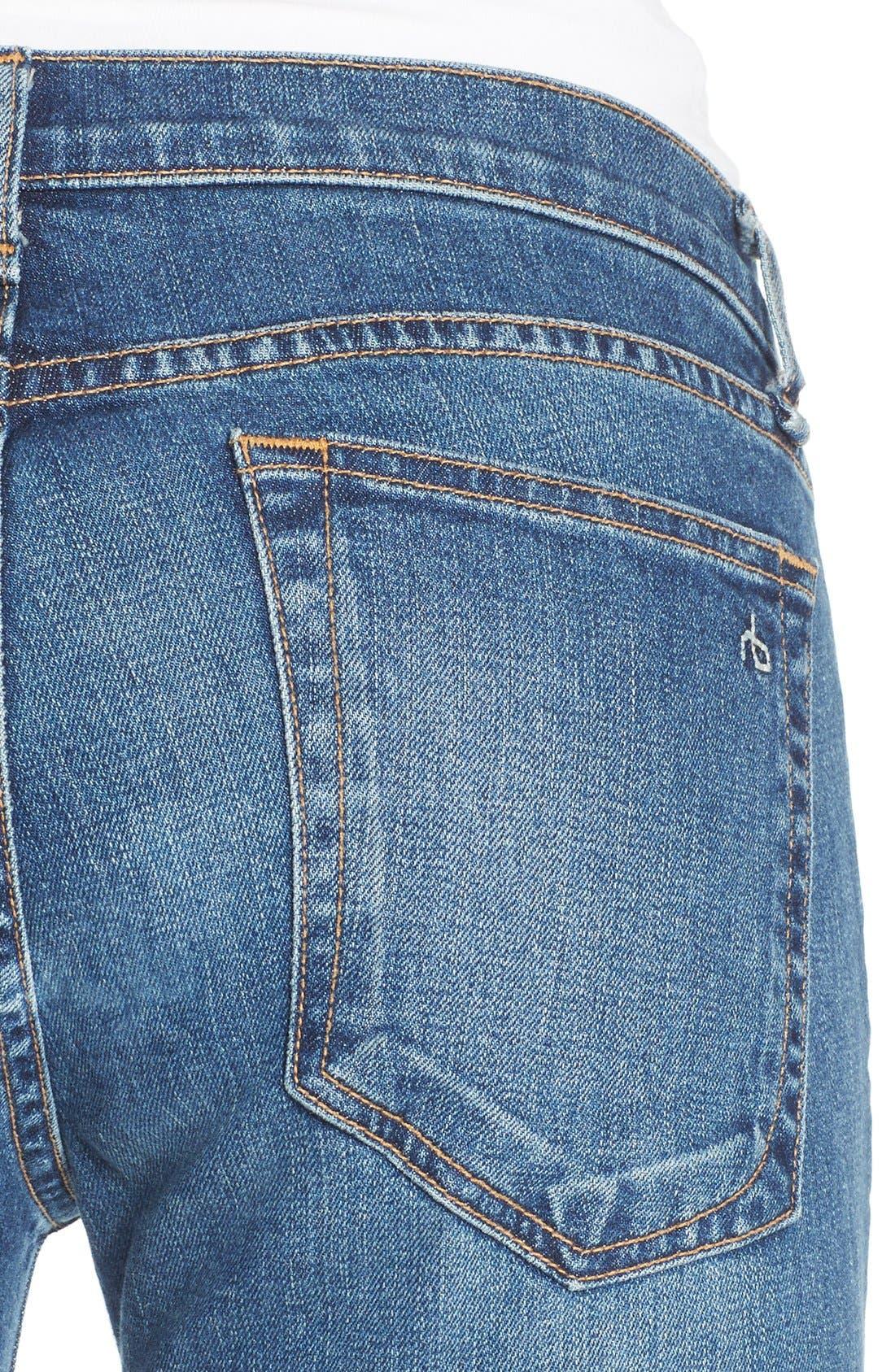 'Dre' Distressed Slim Boyfriend Jeans,                             Alternate thumbnail 5, color,                             423
