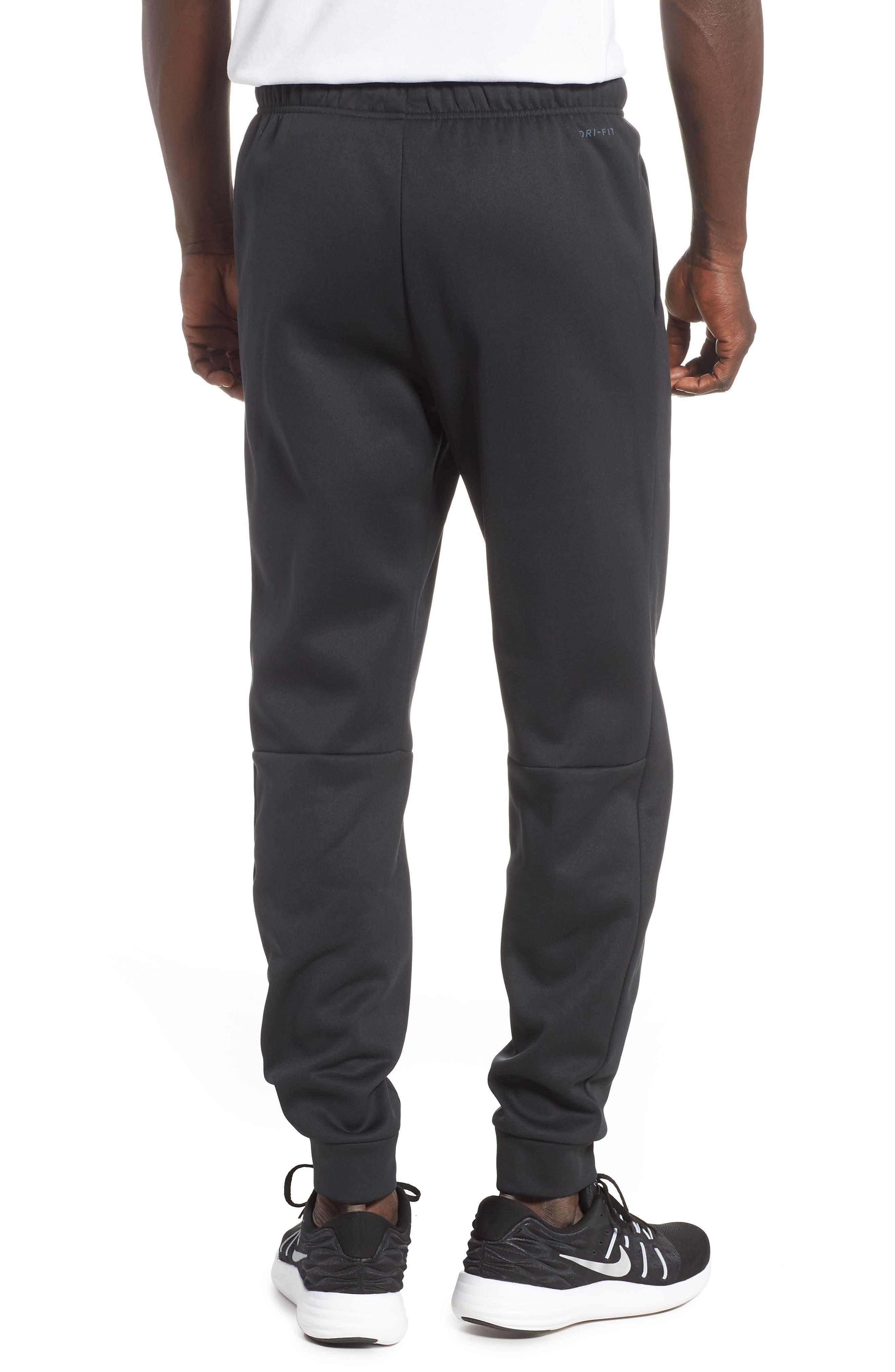 Dri-FIT Therma Training Pants,                             Alternate thumbnail 2, color,                             BLACK/ METALLIC HEMATITE