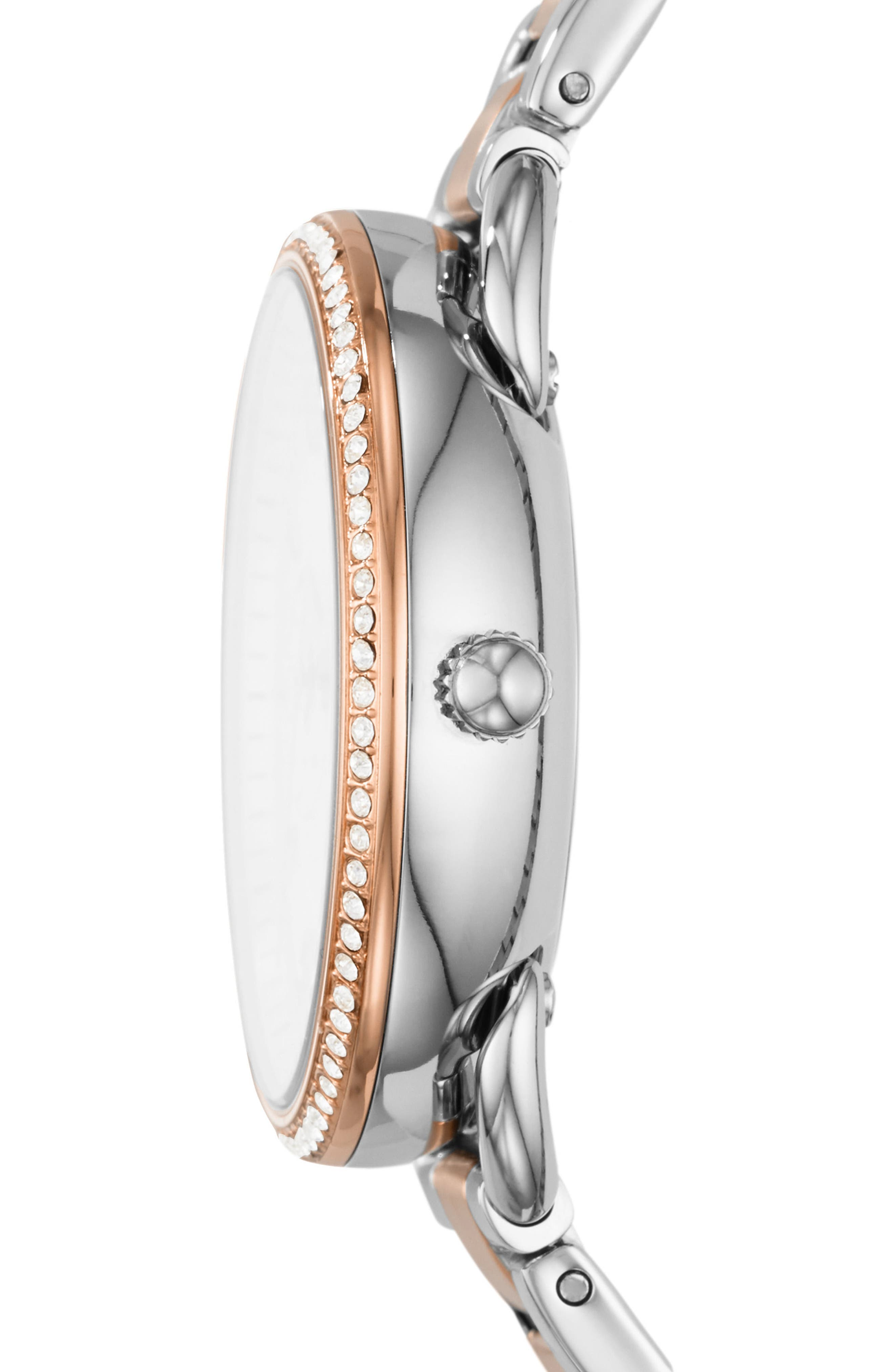 Tailor Crystal Multifunction Bracelet Watch, 35mm,                             Alternate thumbnail 2, color,                             ROSE GOLD/ SILVER/ SILVER