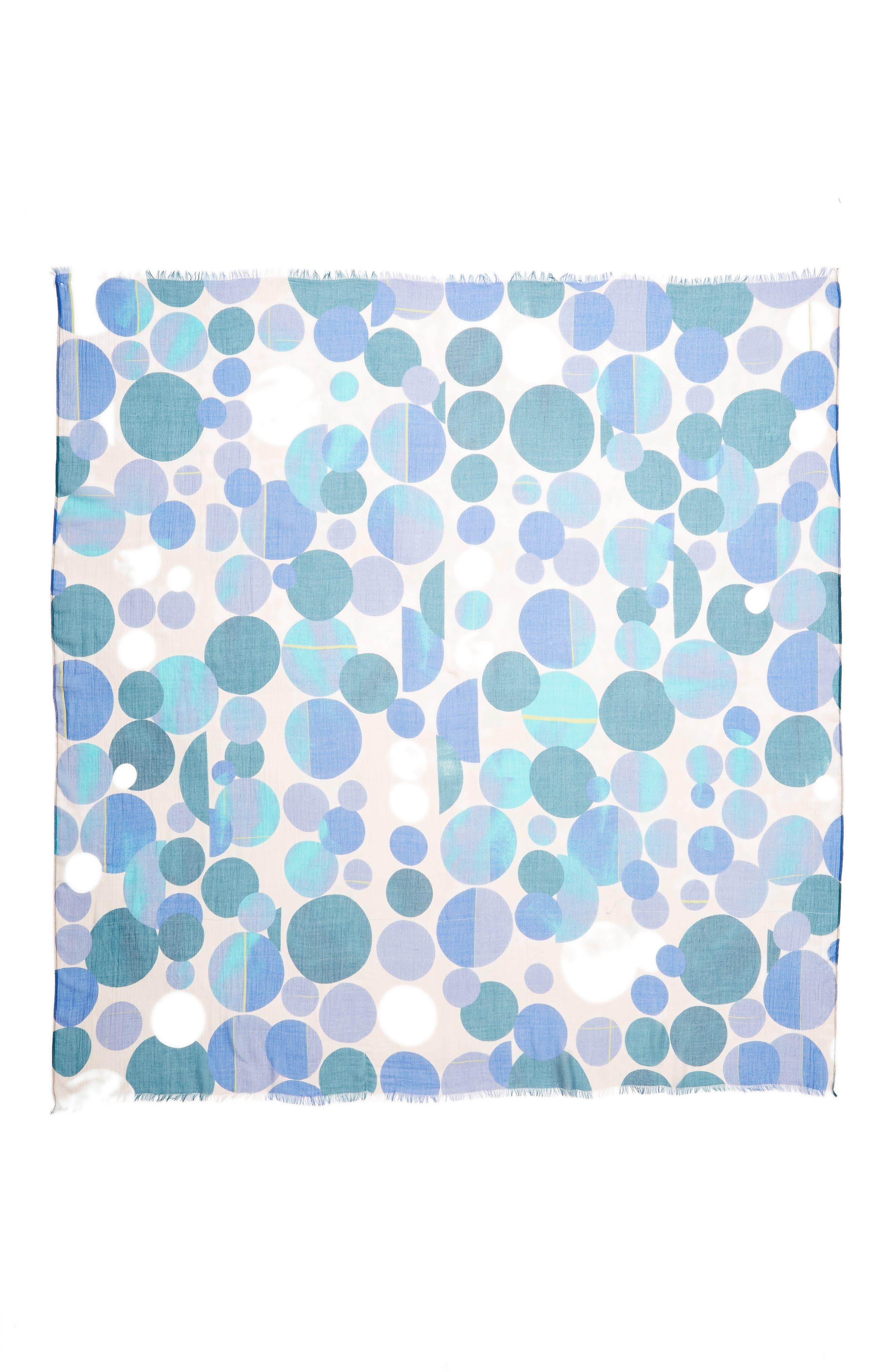 Dot Print Square Scarf,                             Alternate thumbnail 10, color,