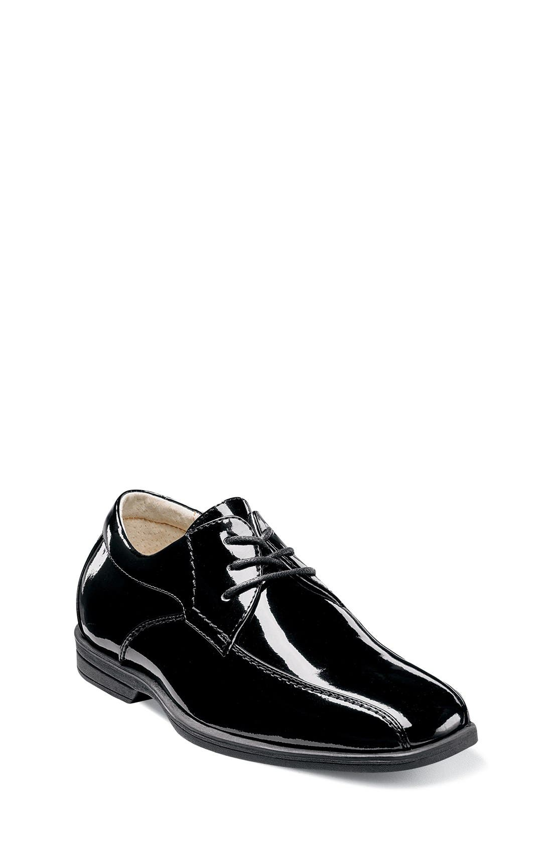 'Reveal' Oxford,                             Main thumbnail 1, color,                             BLACK PATENT LEATHER