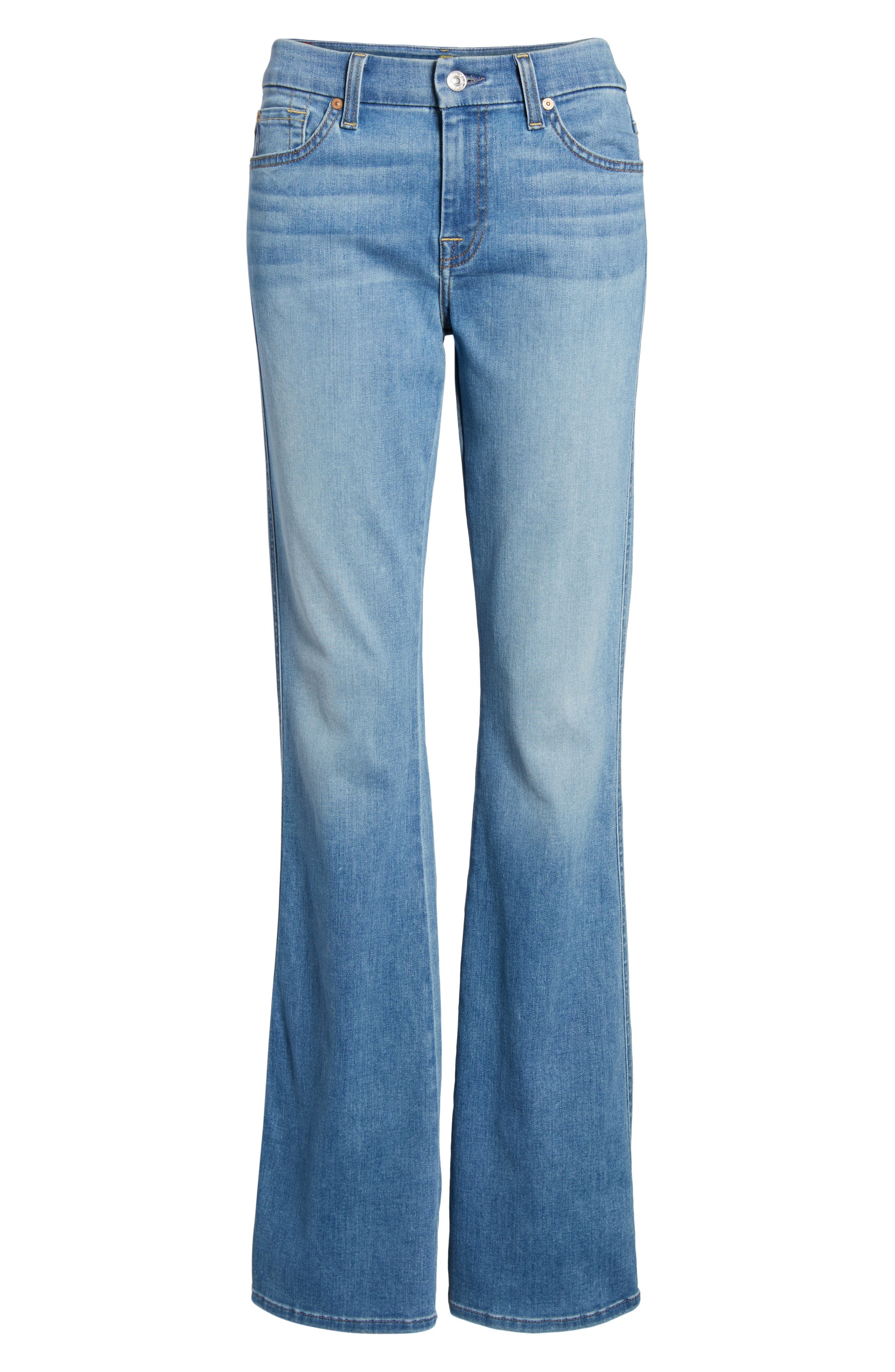 A-Pocket Flare Leg Jeans,                             Alternate thumbnail 7, color,                             401