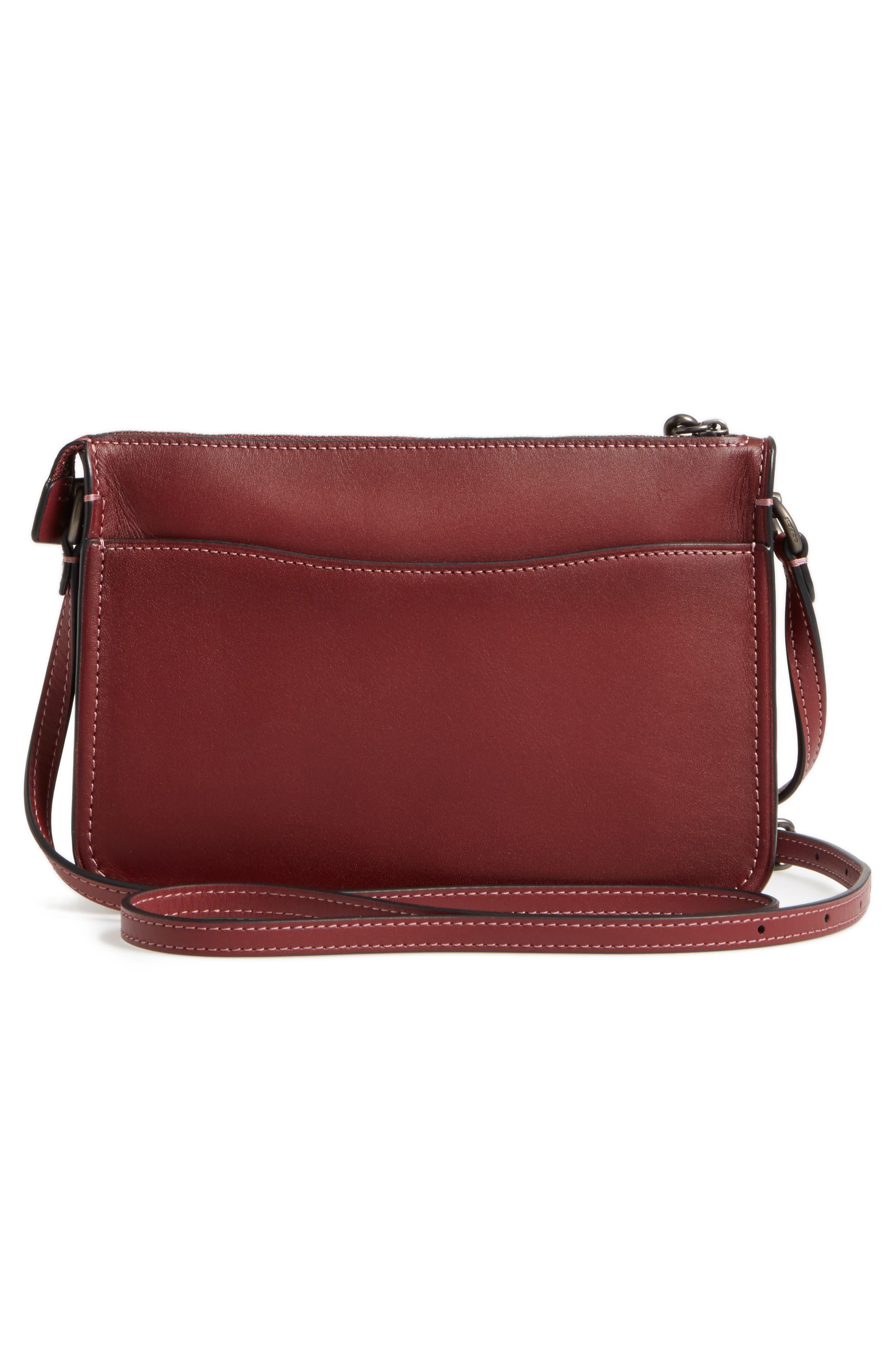 Soho Leather Crossbody Bag,                             Alternate thumbnail 3, color,                             614