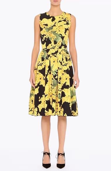 Floral Print Faille Day Dress, video thumbnail