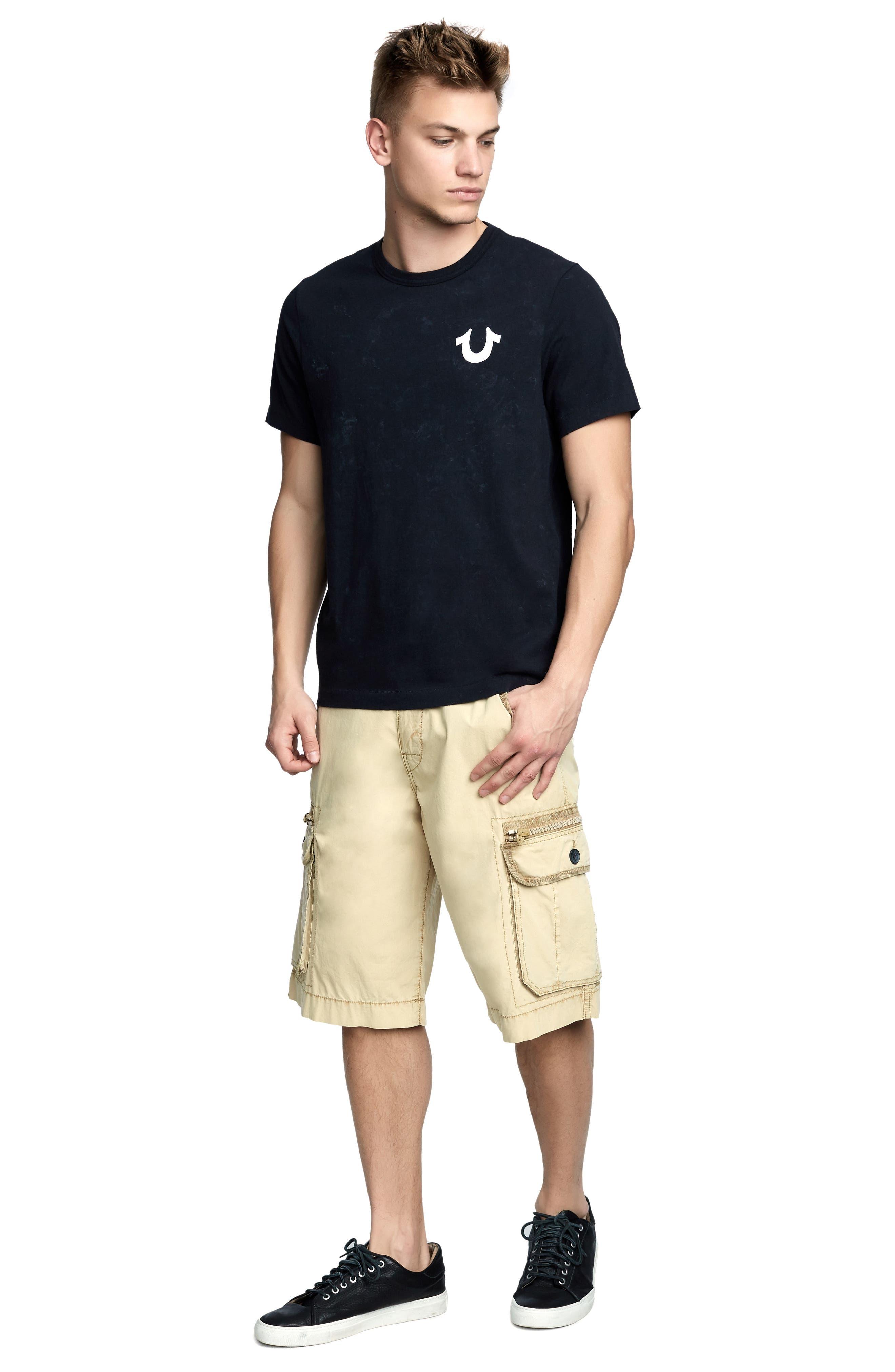 Washed Tiger T-Shirt,                             Alternate thumbnail 3, color,                             TRUE BLACK