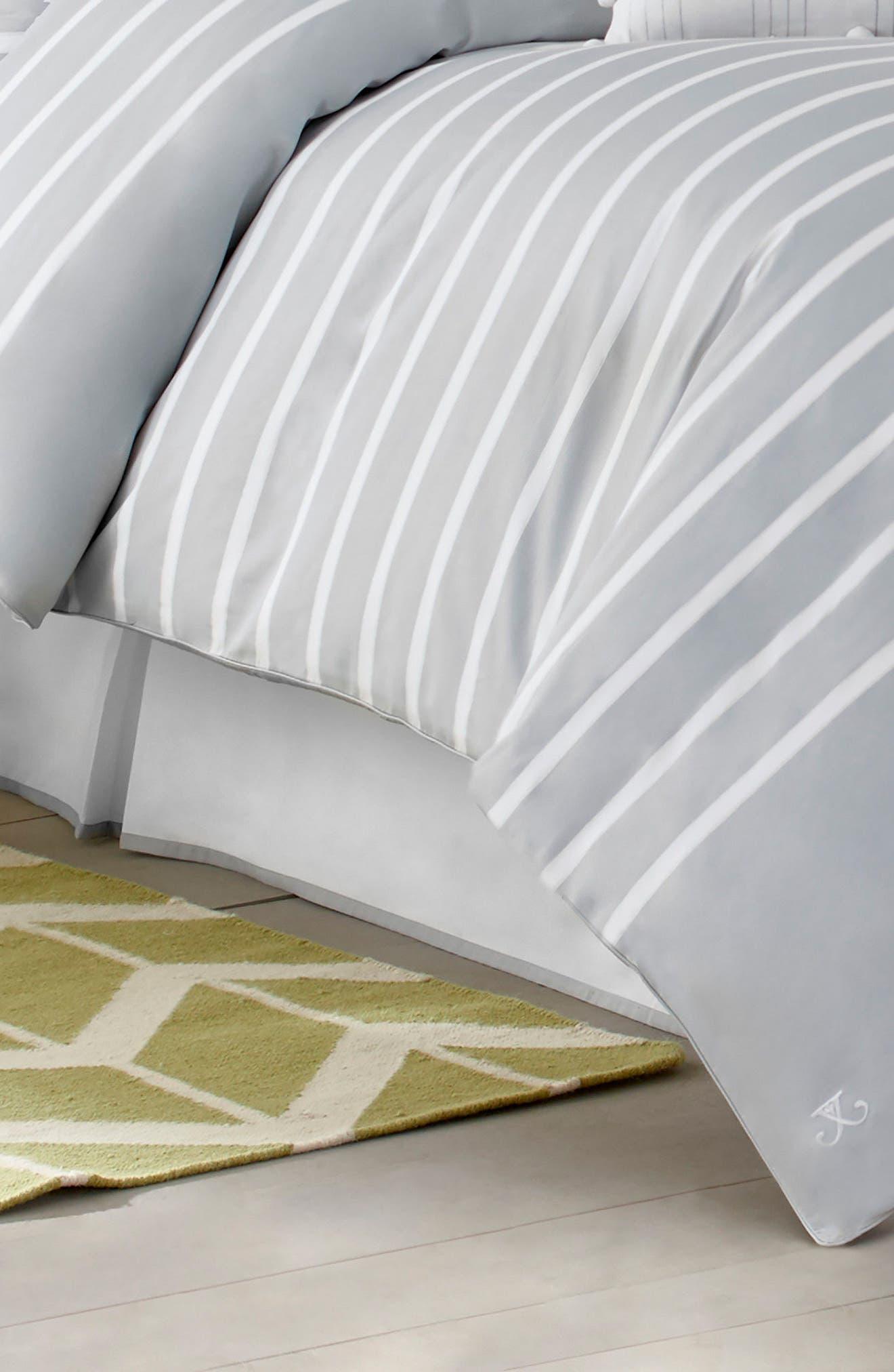 JILL ROSENWALD,                             Capri Stripe Bed Skirt,                             Main thumbnail 1, color,                             020