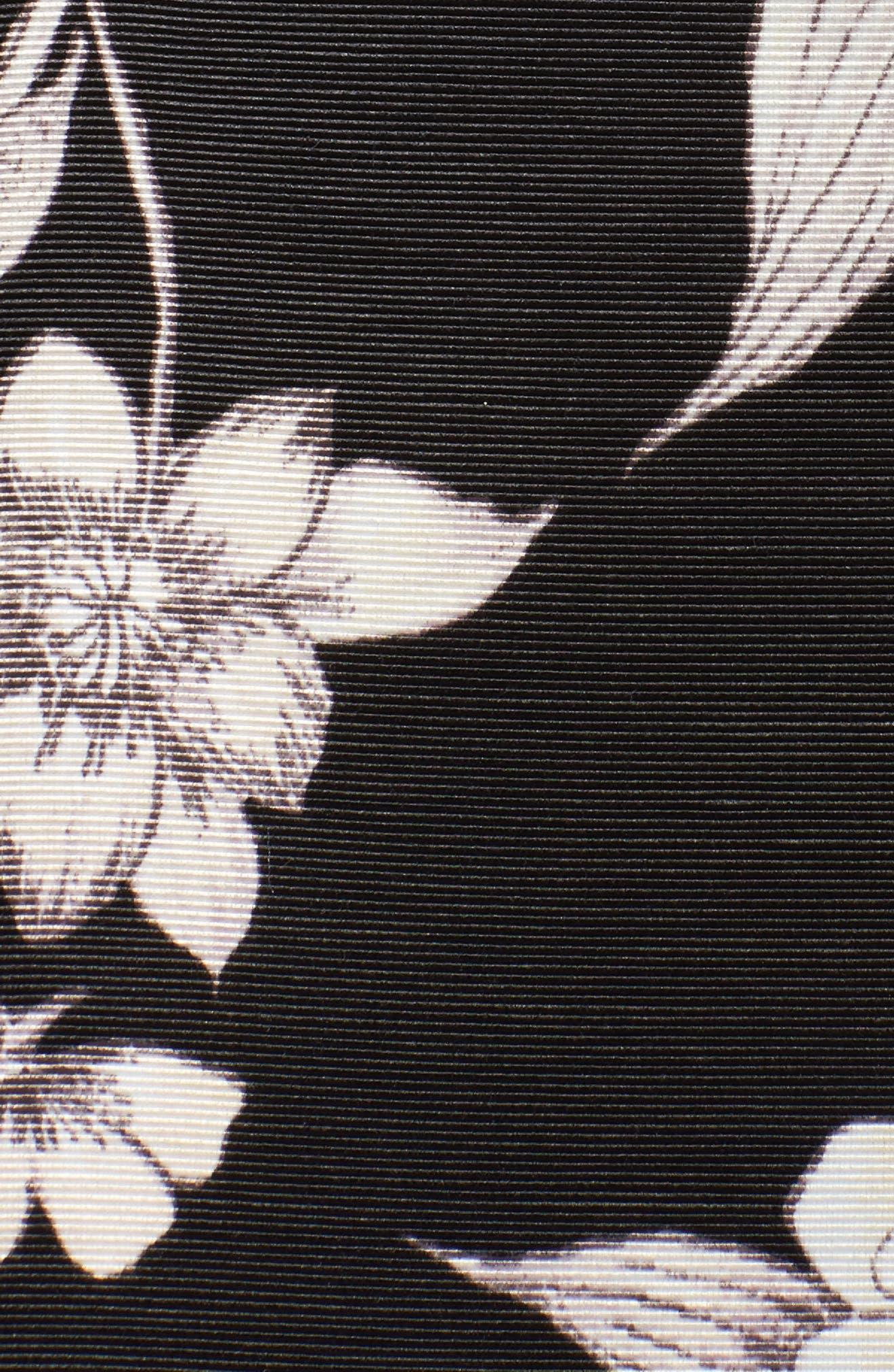 Floral Print Midi Skirt,                             Alternate thumbnail 5, color,                             003