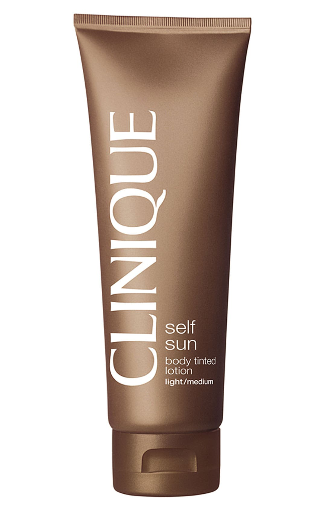 CLINIQUE,                             Self Sun Body Tinted Lotion,                             Main thumbnail 1, color,                             LIGHT/MEDIUM