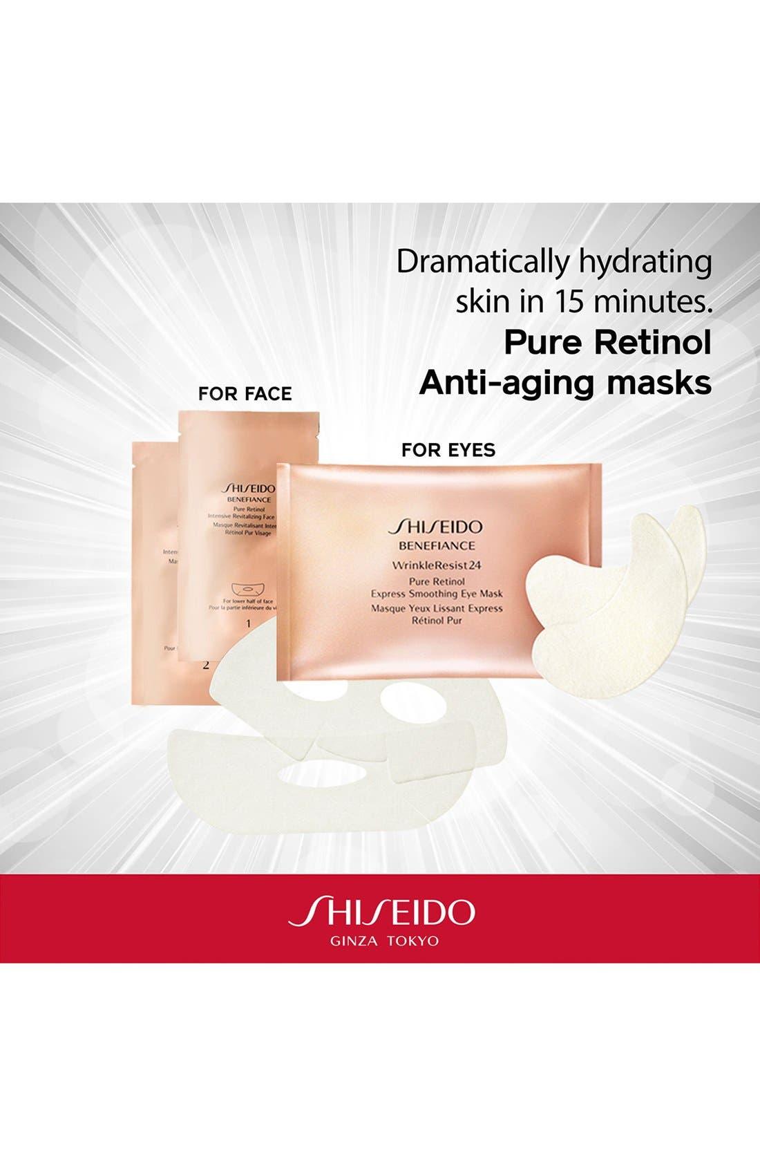 Benefiance WrinkleResist24 Pure Retinol Express Smoothing Eye Mask,                             Alternate thumbnail 6, color,                             NO COLOR
