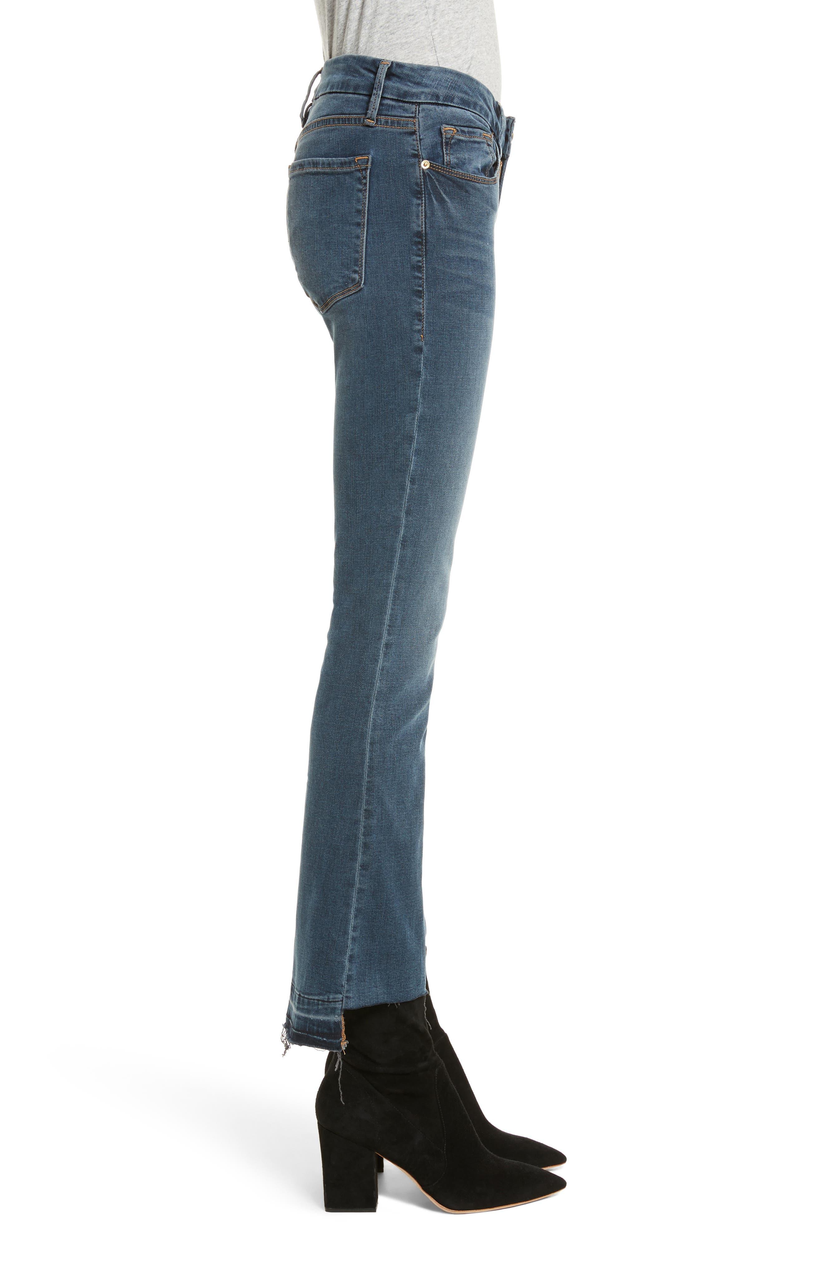 Le Crop Mini Boot Stagger Hem Jeans,                             Alternate thumbnail 3, color,                             420