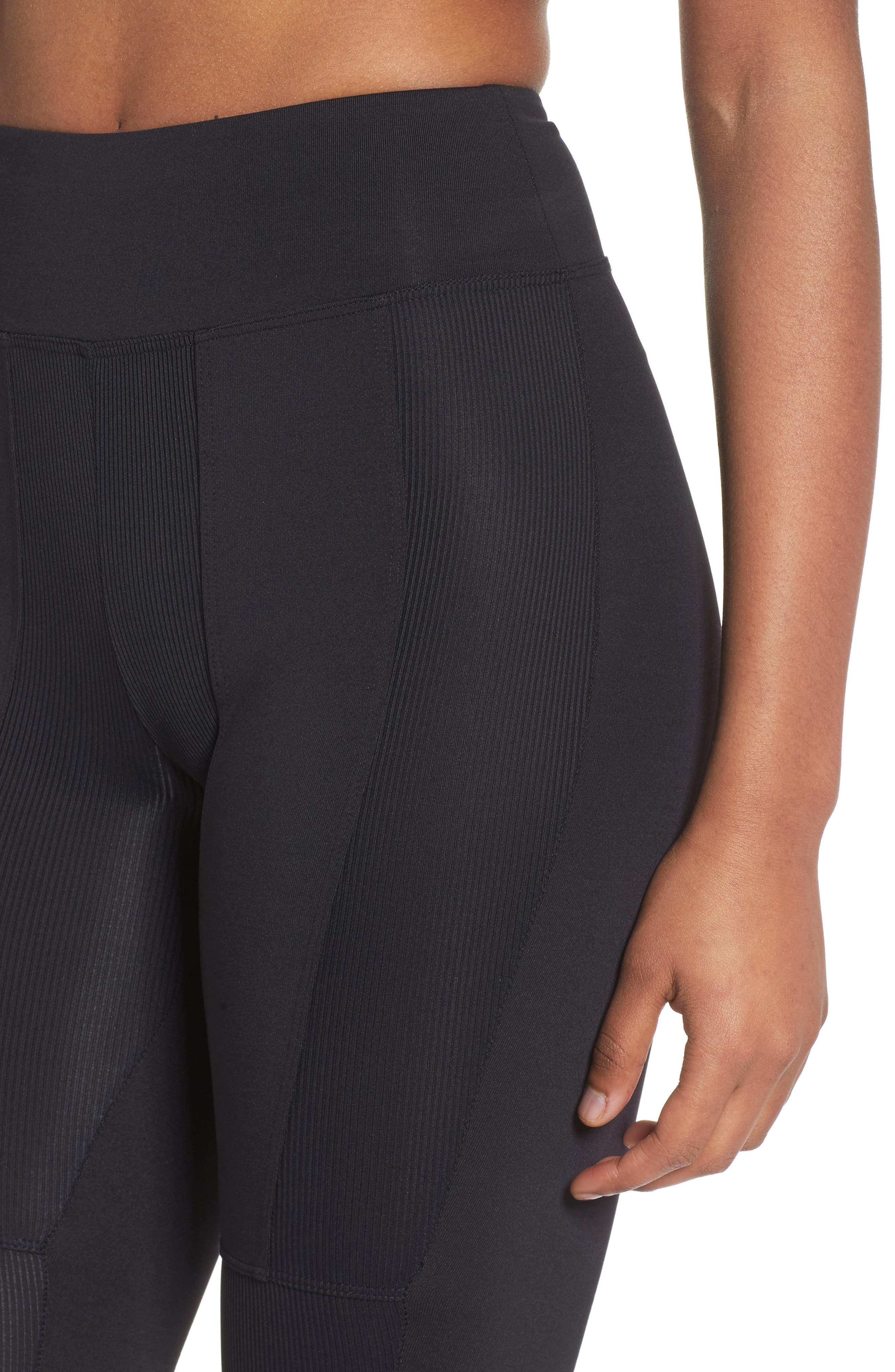 Rappel High Waist Leggings,                             Alternate thumbnail 4, color,                             001