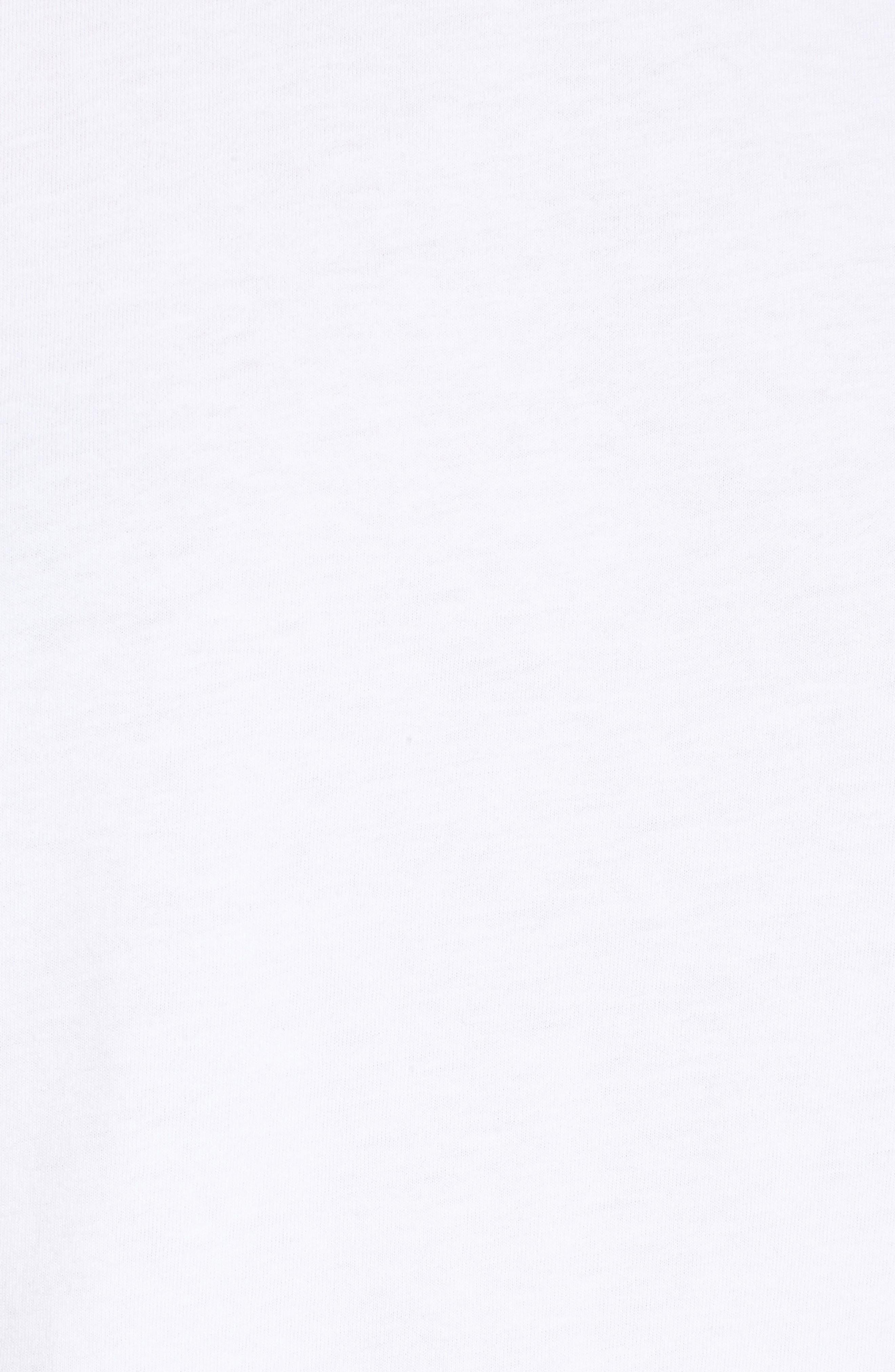 Bow Sleeve Poplin Cotton Top,                             Alternate thumbnail 5, color,                             100