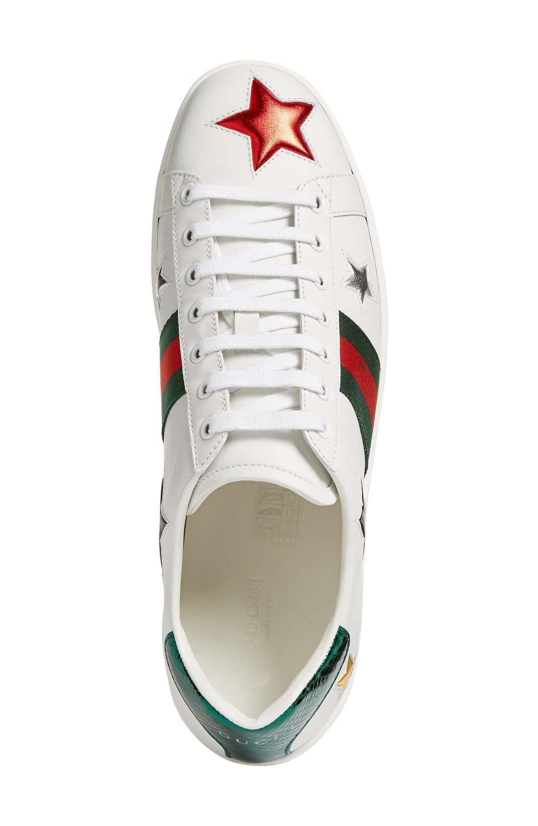 New Ace Star Sneaker,                             Alternate thumbnail 8, color,                             WHITE MULTI